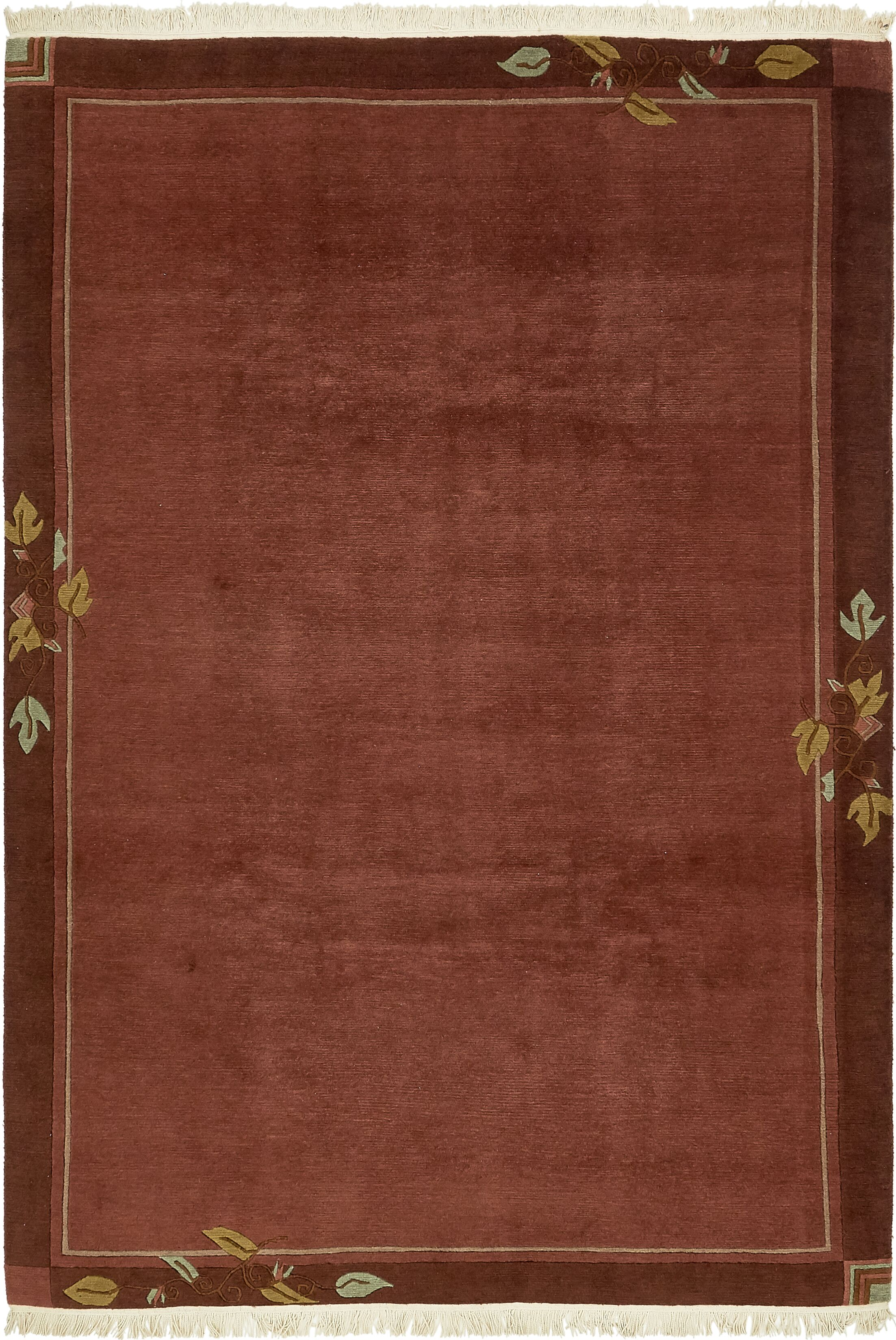 One-of-a-Kind Ollert Hand-Knotted Wool Brown Area Rug