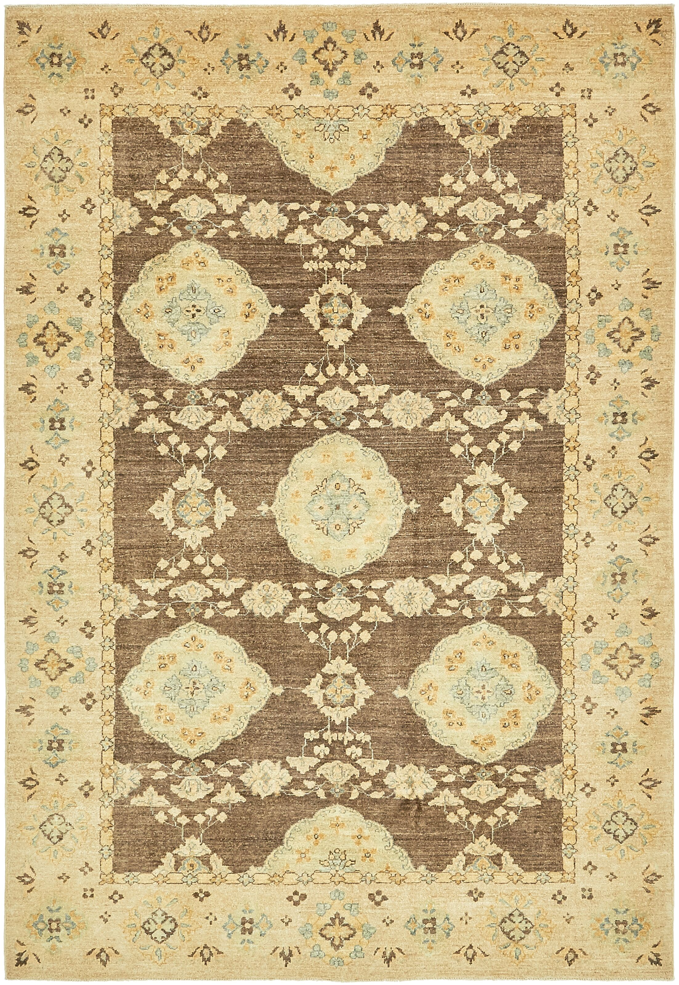 One-of-a-Kind Huntingdon Hand-Knotted Wool Brown/Beige Area Rug