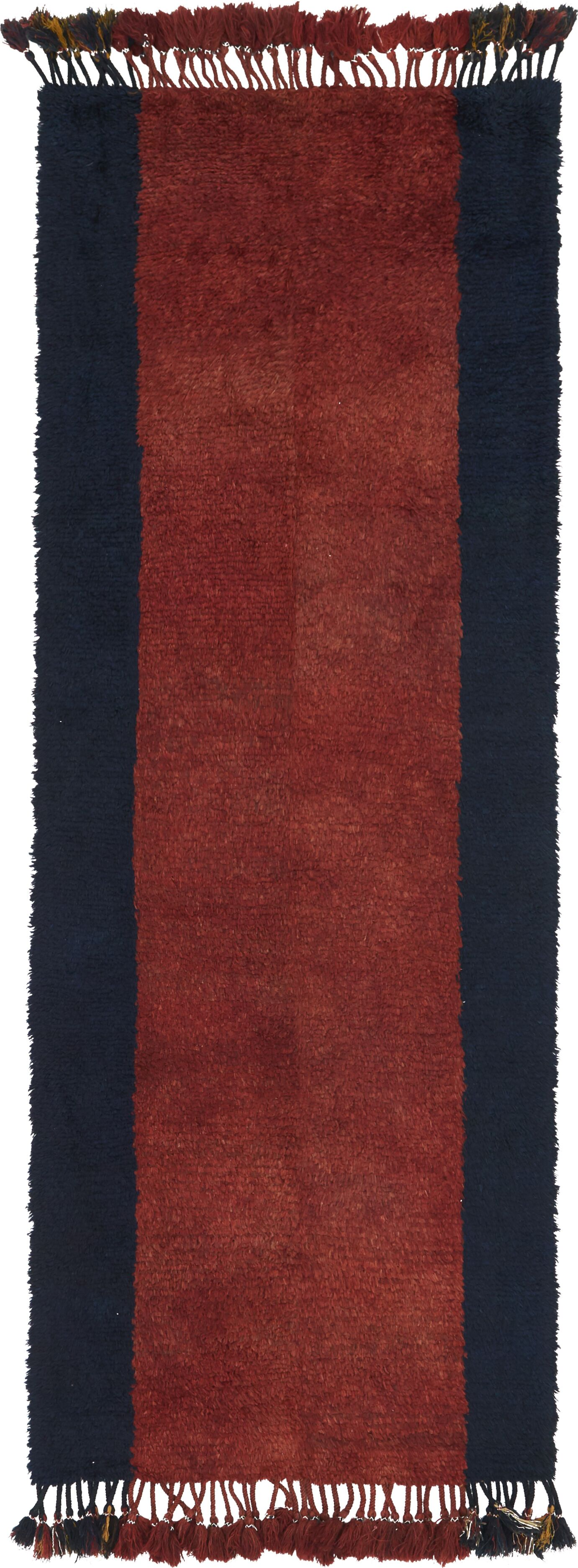 One-of-a-Kind Nuneaton Hand-Knotted Wool Red/Black Area Rug