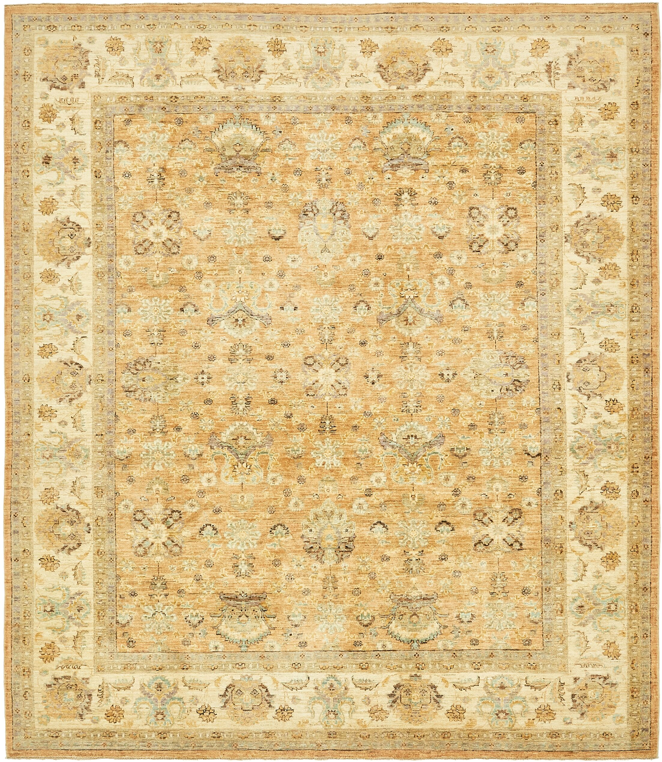 One-of-a-Kind Nash Hand-Knotted Wool Beige Area Rug