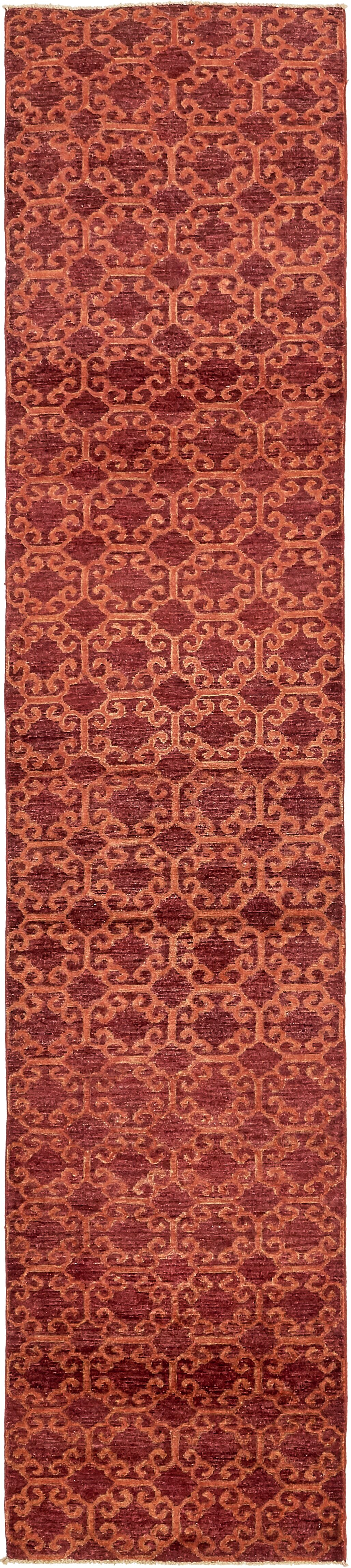 One-of-a-Kind Huntingdon Hand-Knotted Wool Red Area Rug
