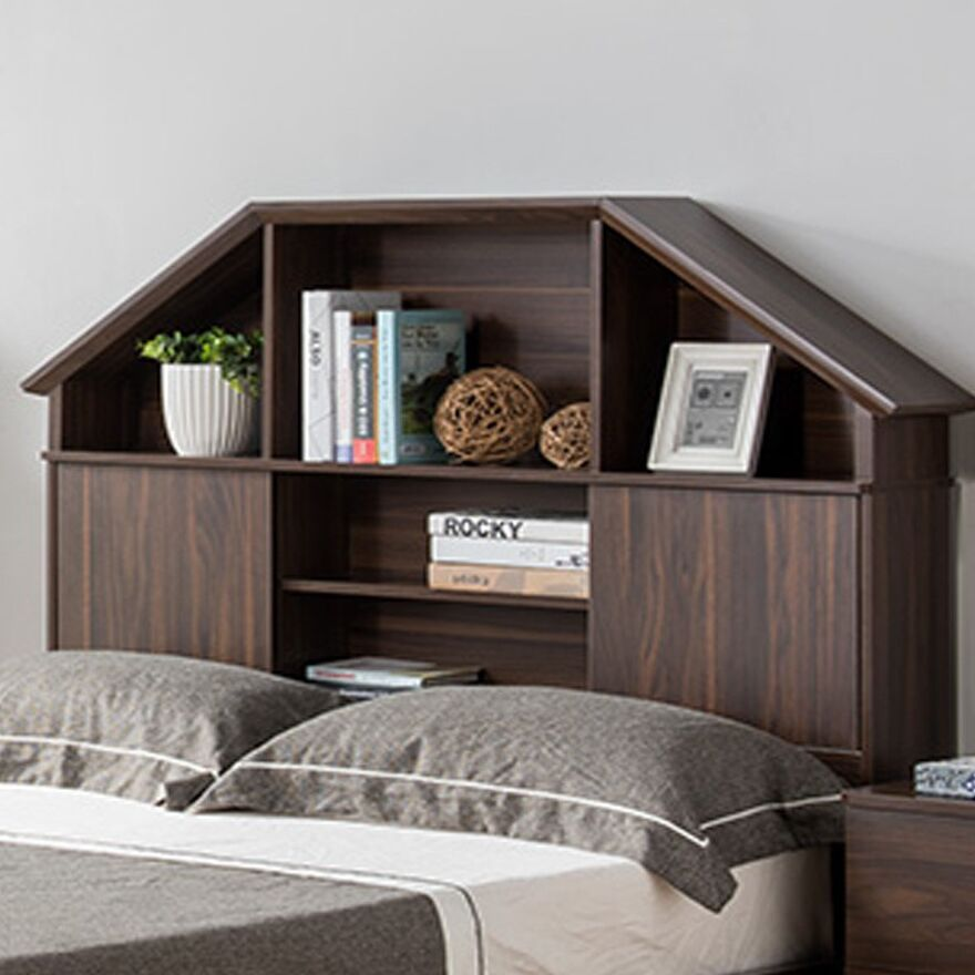 Marley Hut Bookcase Headboard Size: Full