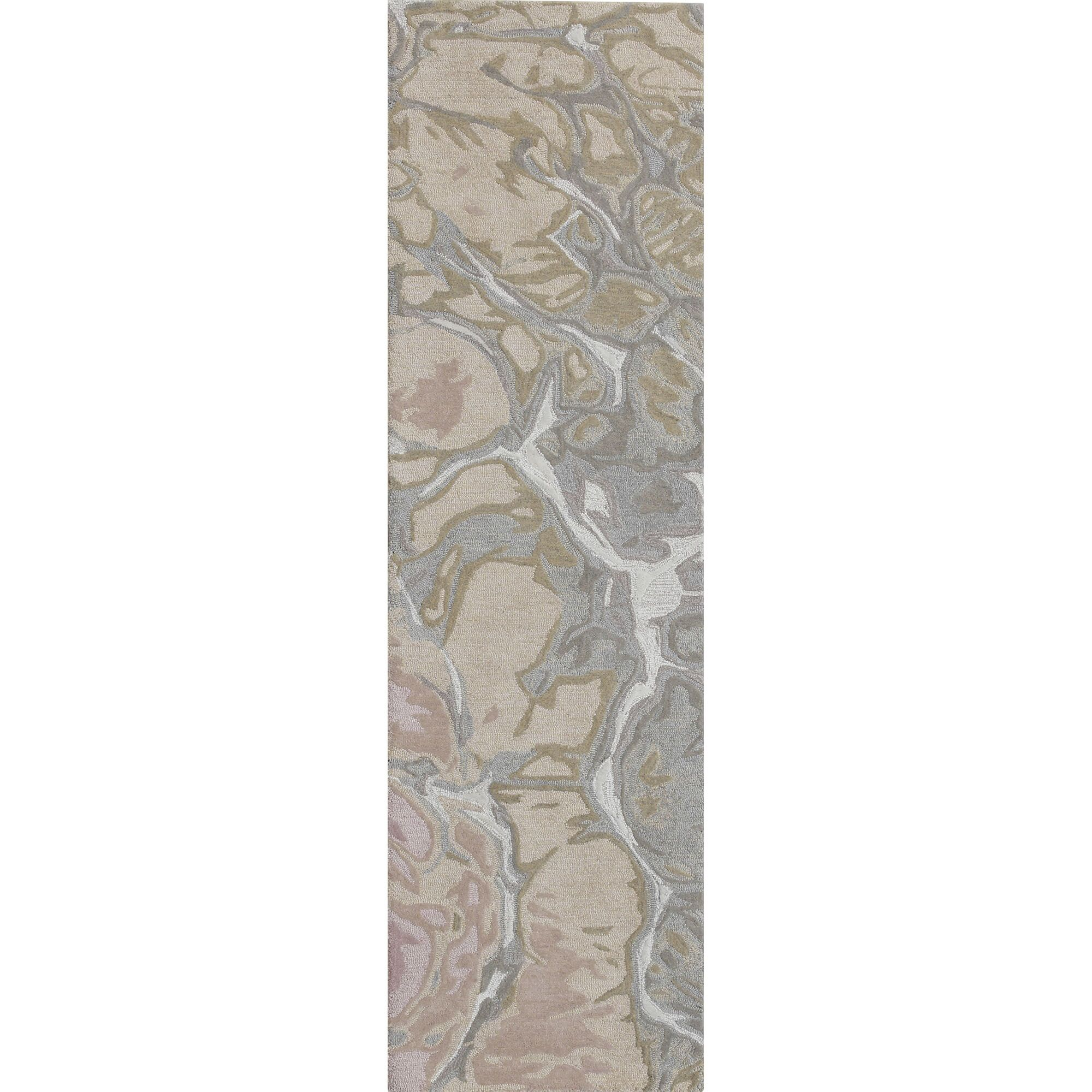 Groce Water Hand-Tufted Wool Brown/Gray Area Rug Size: Runner 2' x 7'6