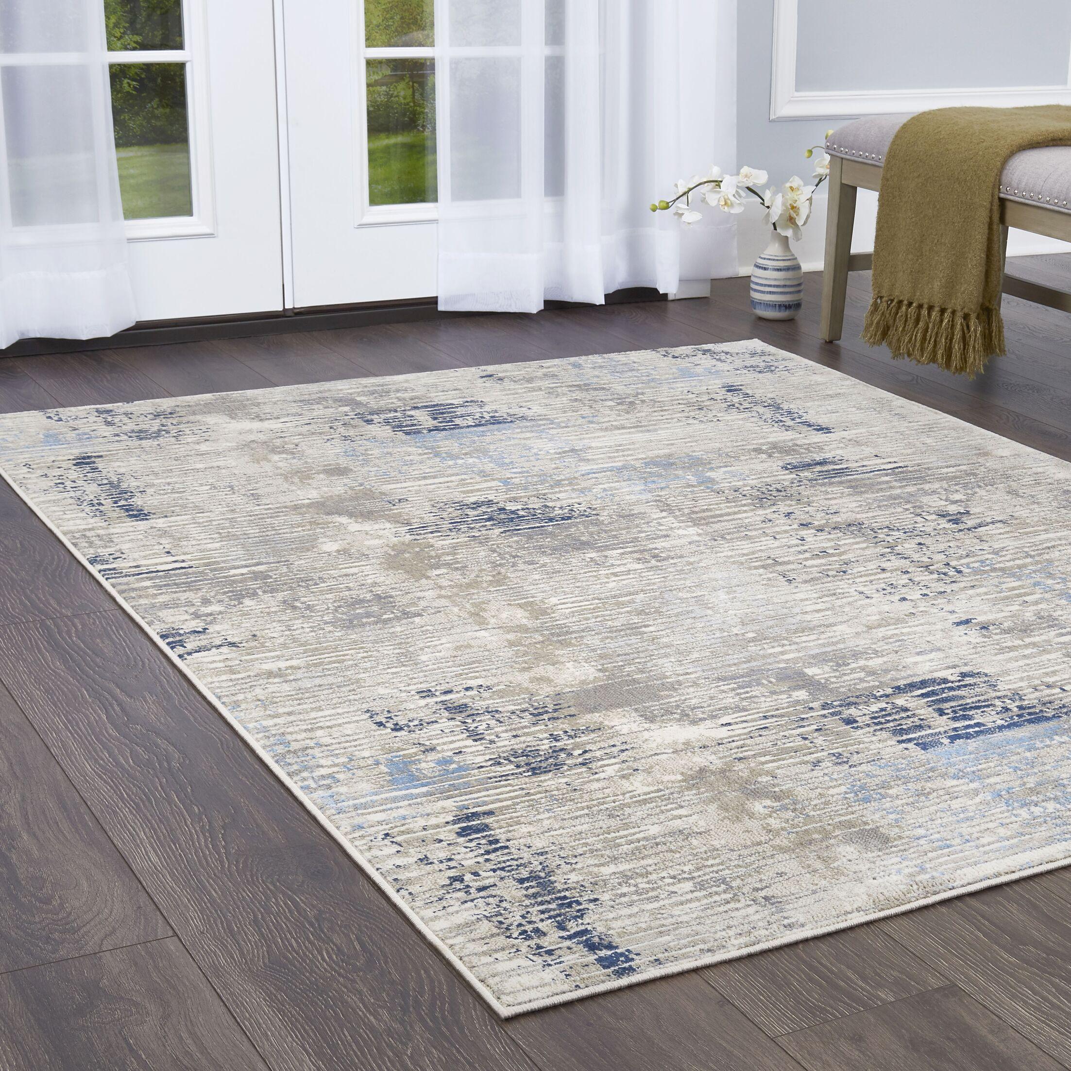 Hamm Gray/Blue Area Rug Rug Size: Rectangle 5'2