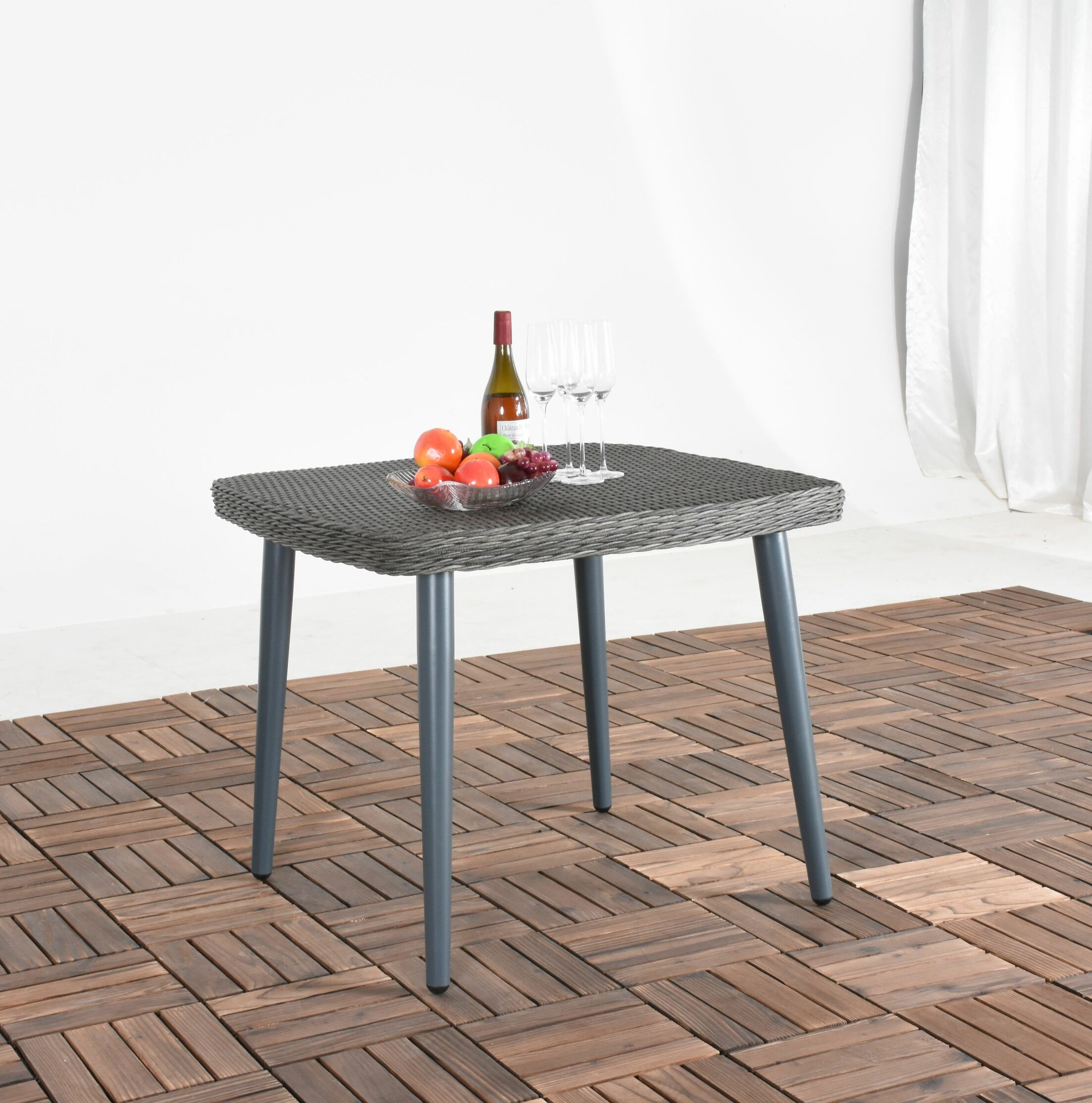 Rutha Square Wicker Dining Table