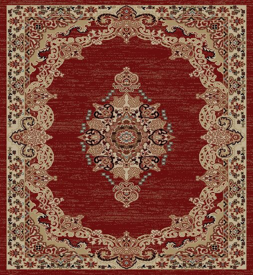 Sheldon Red Area Rug Rug Size: Rectangle 5' x 7'