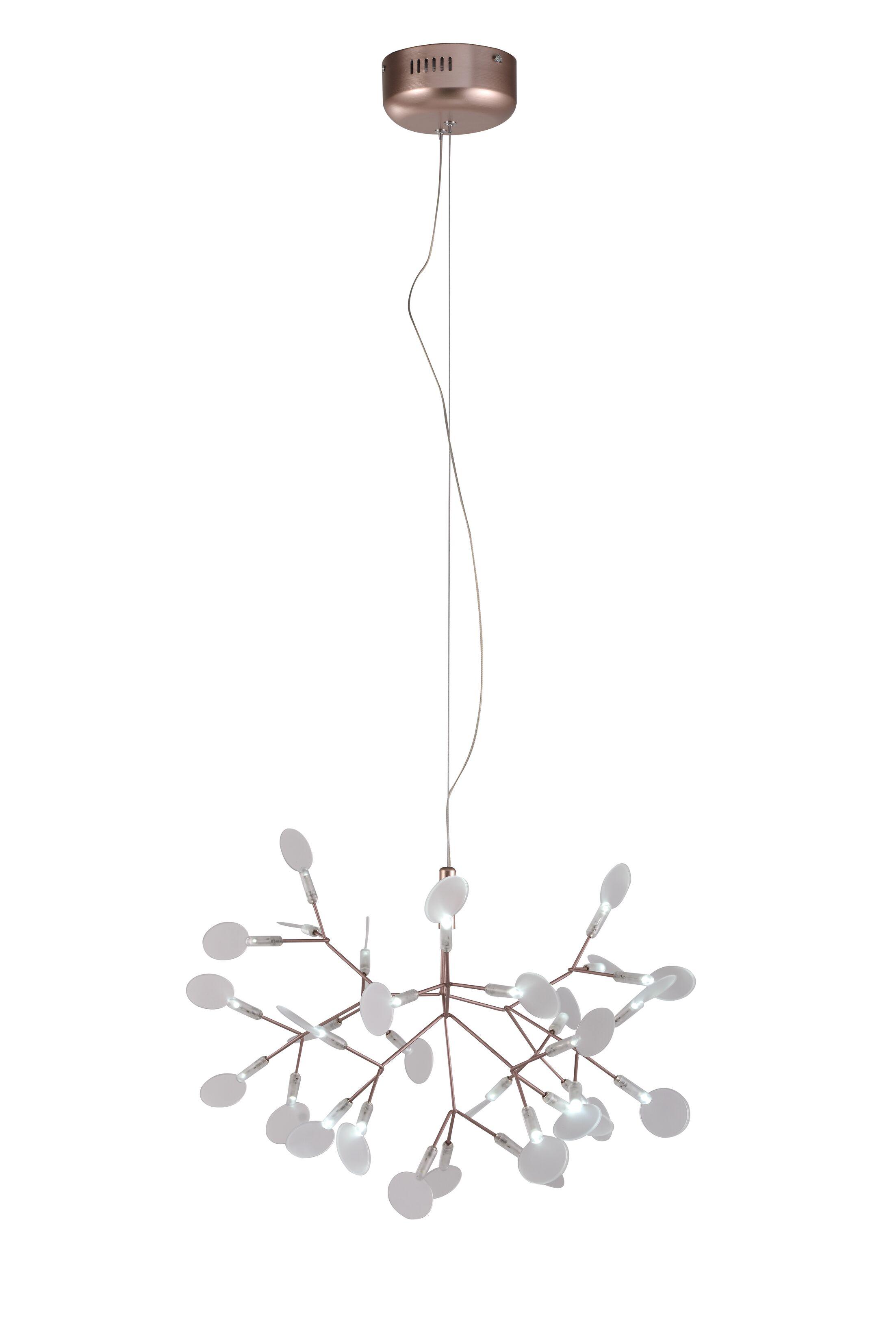 Eastman 45-Light Sputnik Chandelier Finish: Rose Gold