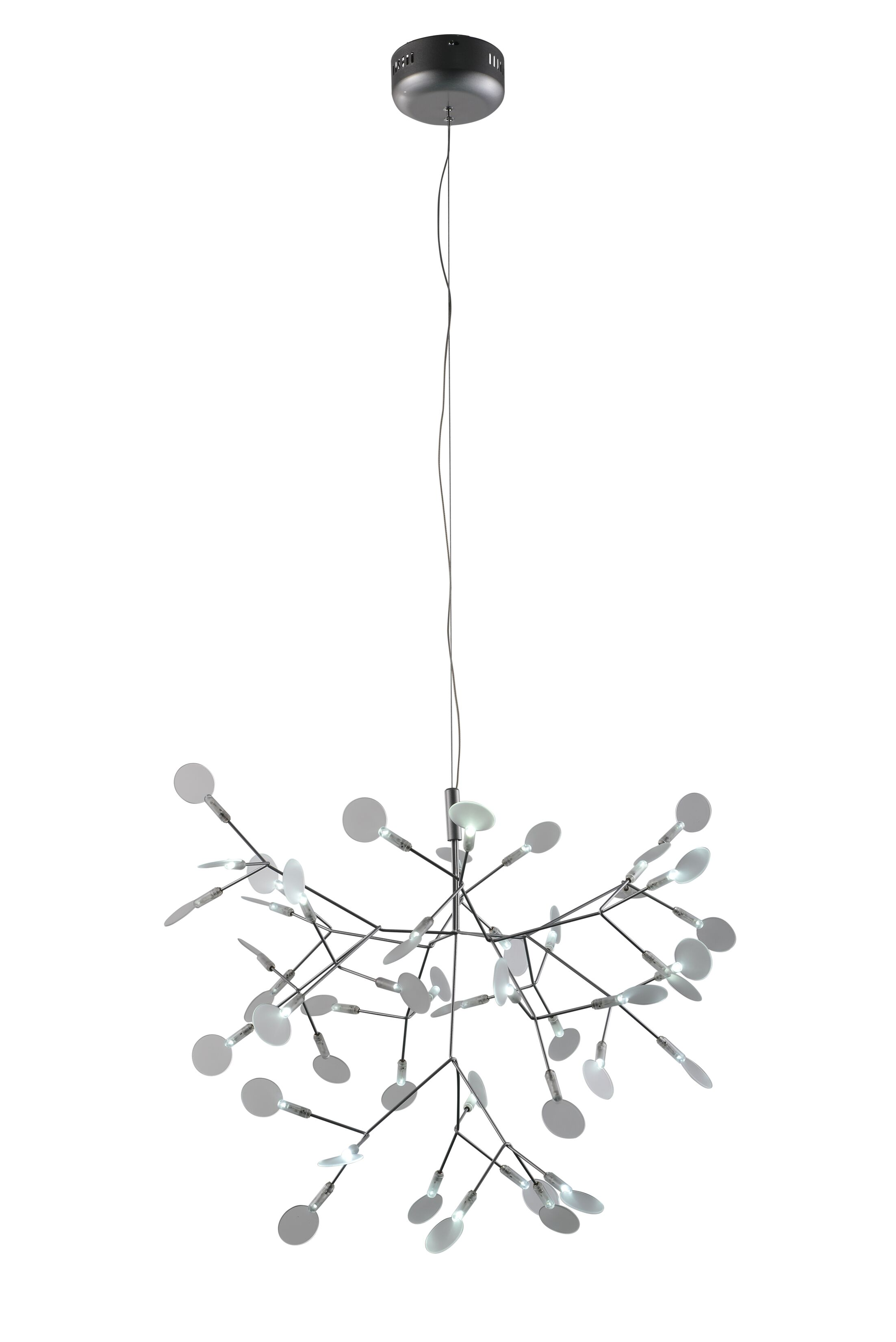 Eastman 45-Light Sputnik Chandelier Finish: Silver