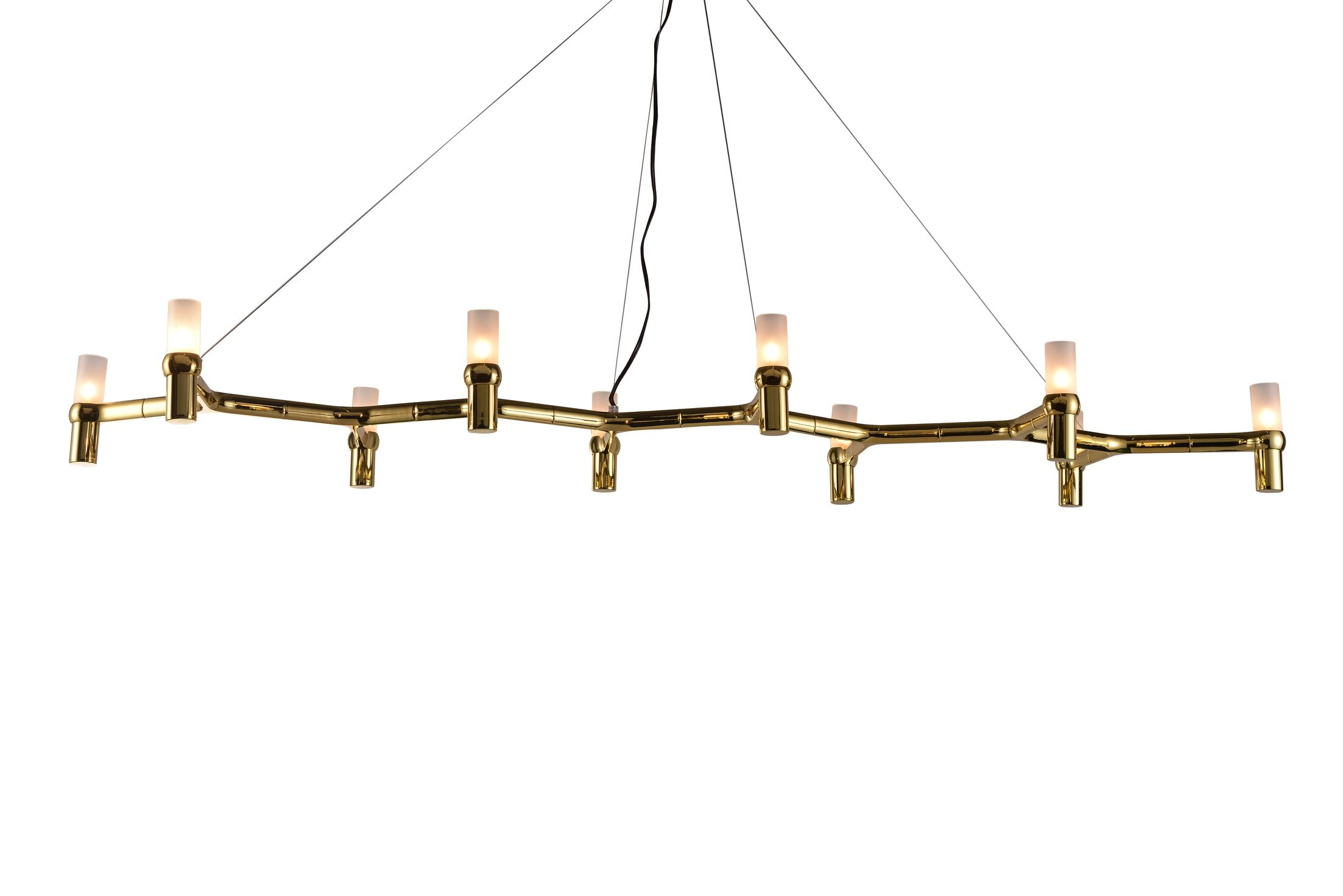 Andersonville 10-Light Candle Style Chandelier Finish: Gold