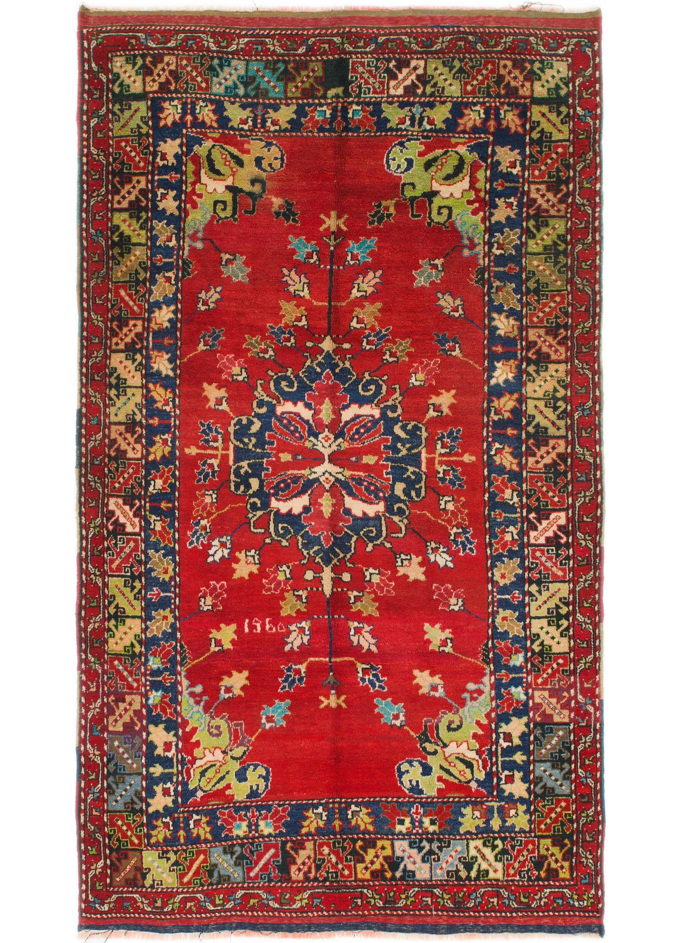 One-of-a-Kind Diana Hand-Knotted Wool Red Area Rug