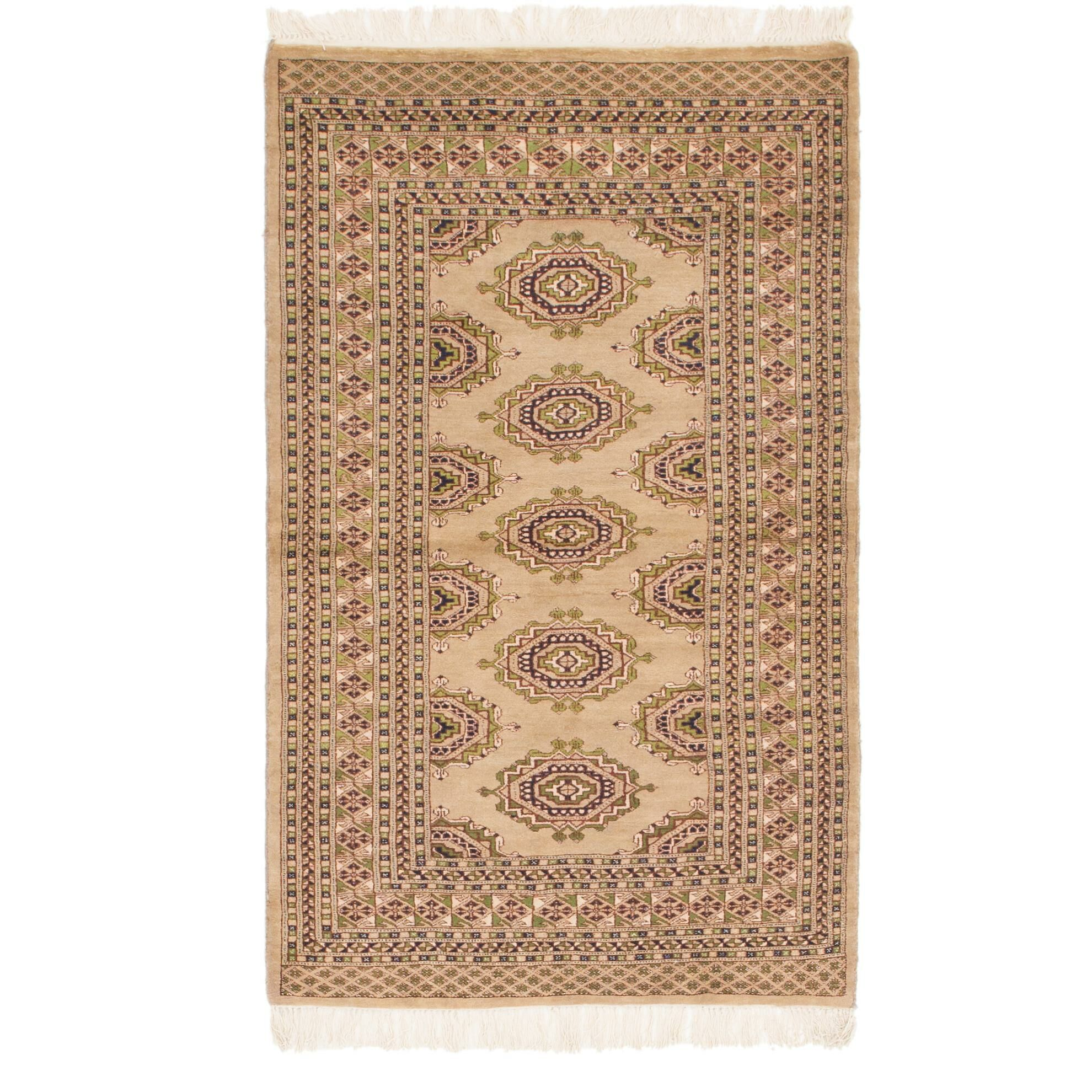 One-of-a-Kind Tekke Hand-Knotted Wool Light Brown Area Rug