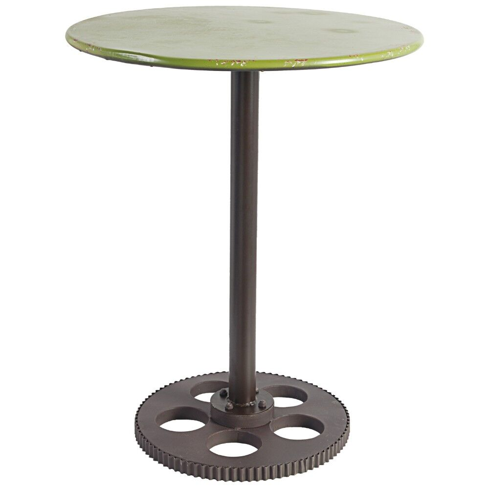Earby Round Metal End Table