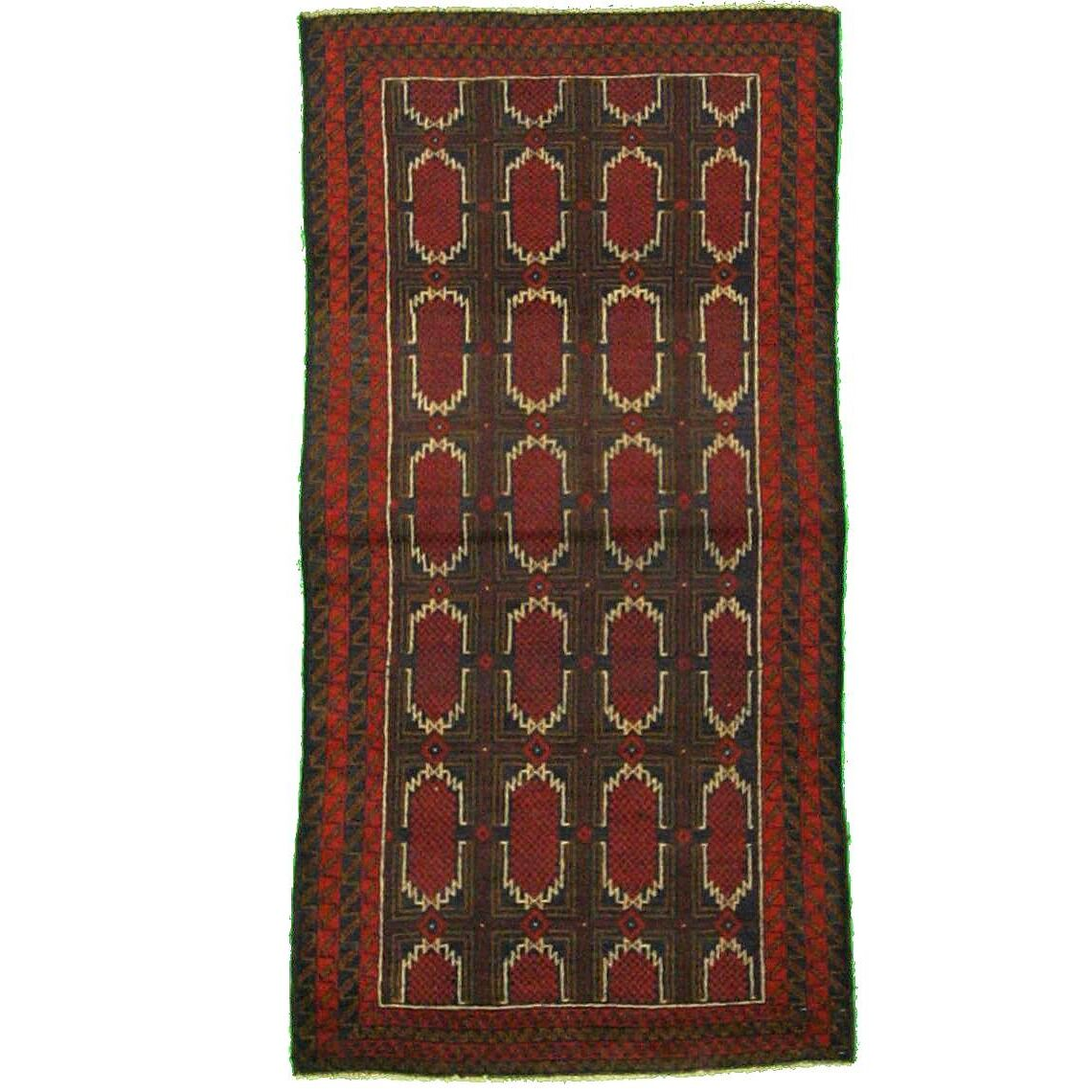 One-of-a-Kind Dulvert Hand-Knotted Wool Red Area Rug