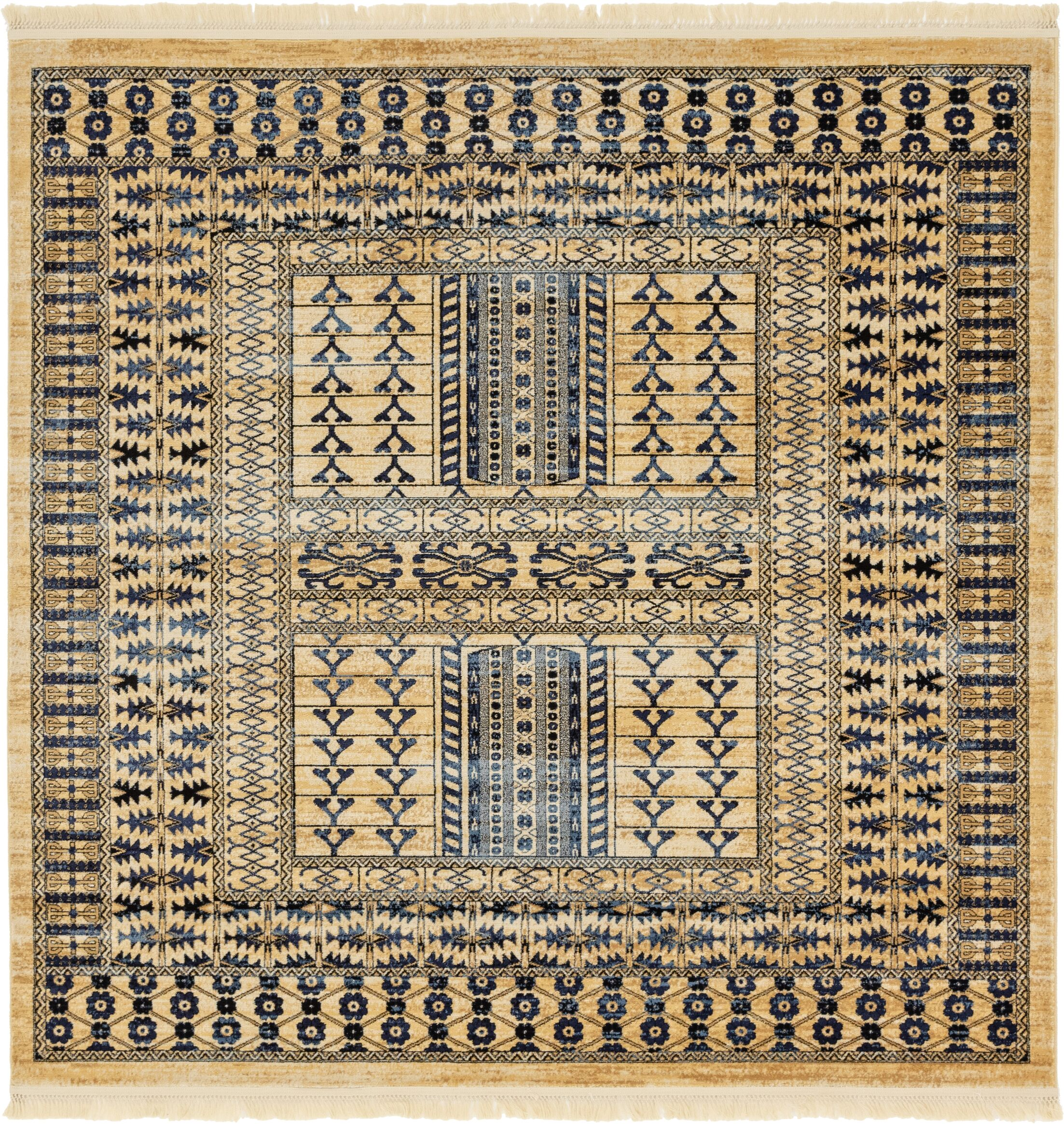 Rumsey Red Area Rug Rug Size: Square 8'