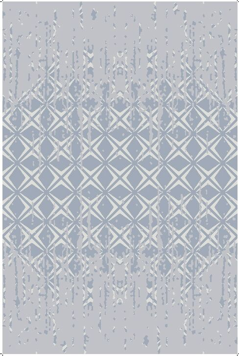 Transitiona Hand-Knotted Wool Silver Area Rug