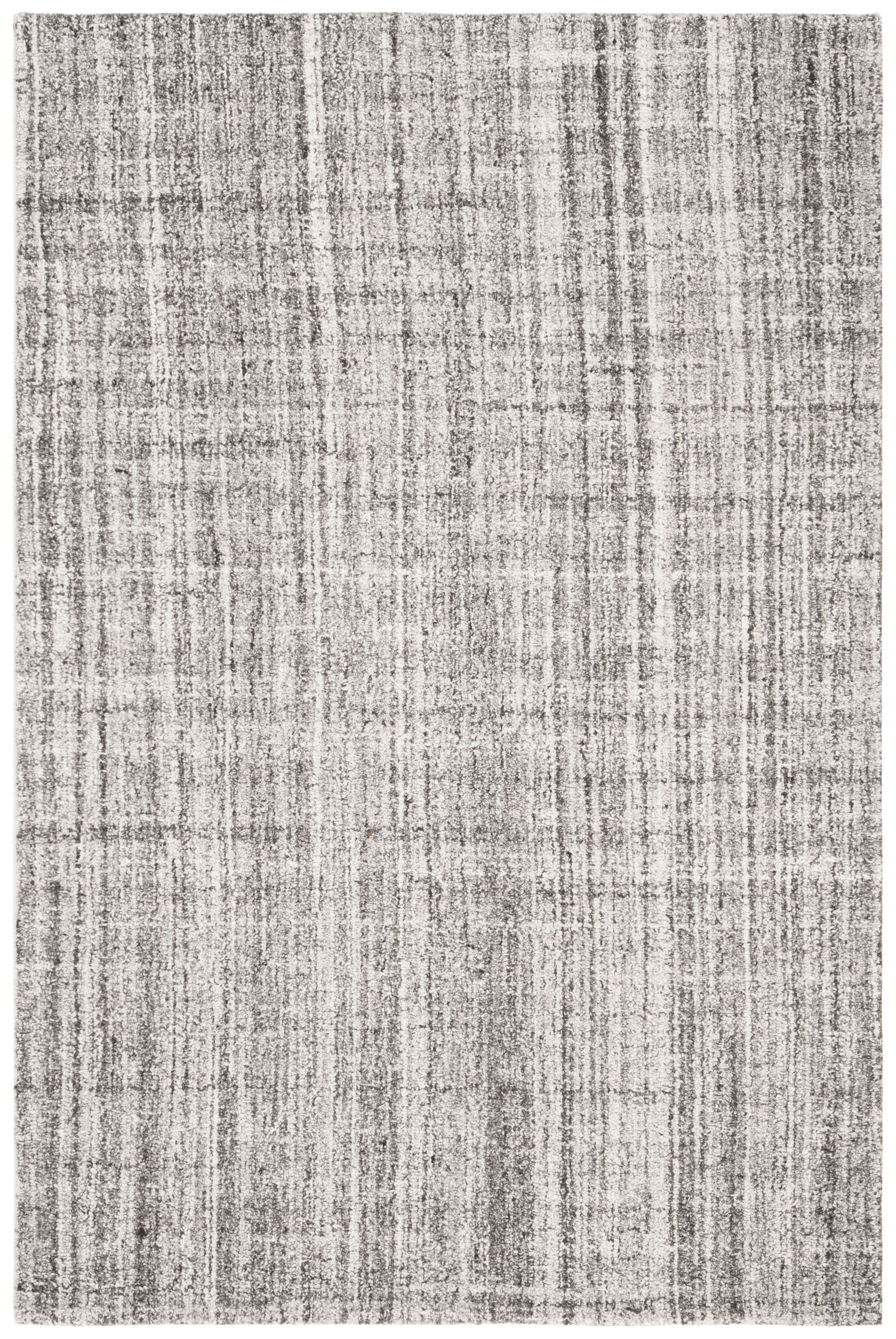 Fountain Abstract Hand-Tufted Wool Gray/Black Area Rug Rug Size: Rectangle 4' x 6'