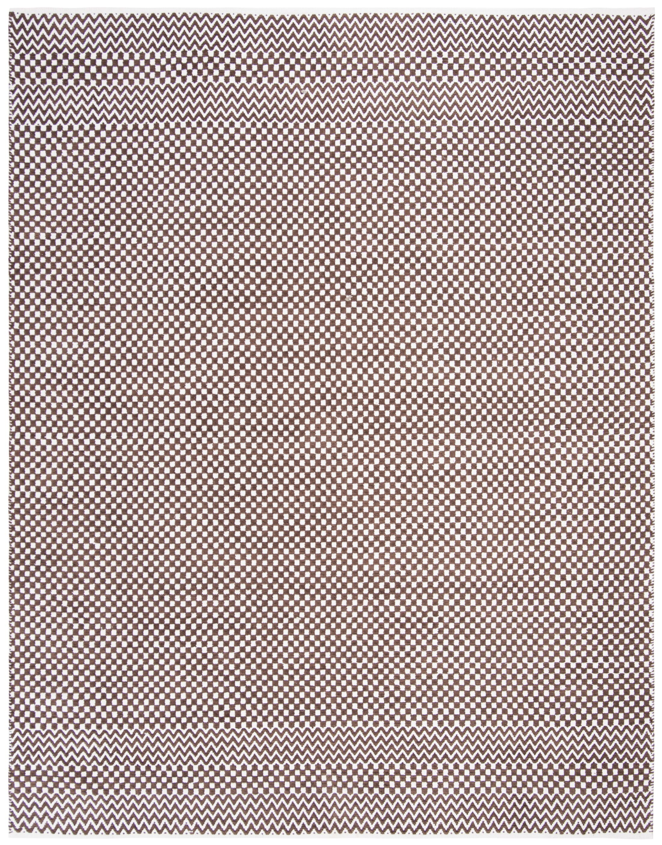Katz Hand-Tufted Cotton Brown Area Rug Rug Size: Rectangle 5' x 8'