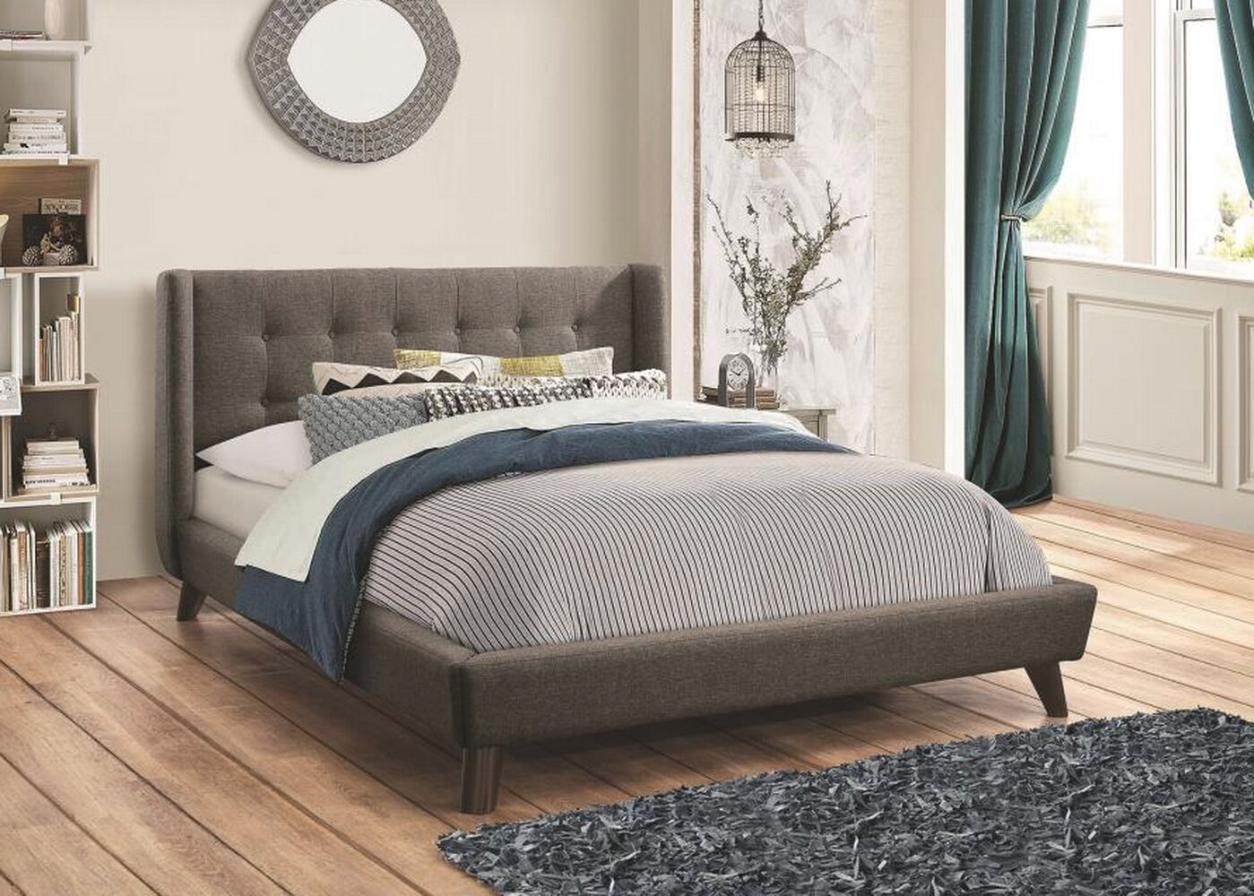 Ballesteros Upholstered Platform Bed (Set of 2) Size: California King