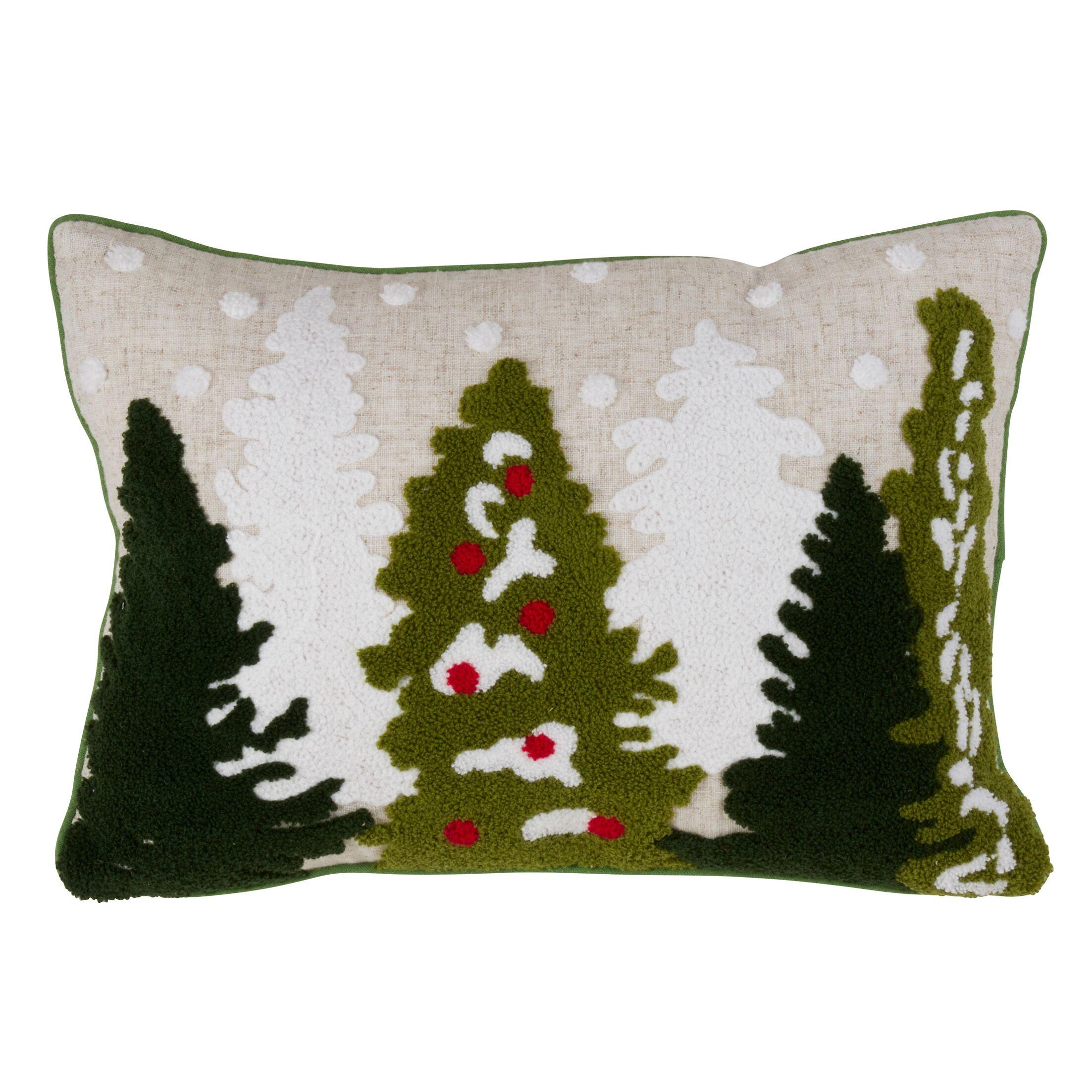 Nevin Festive Christmas Tree Lumbar Pillow