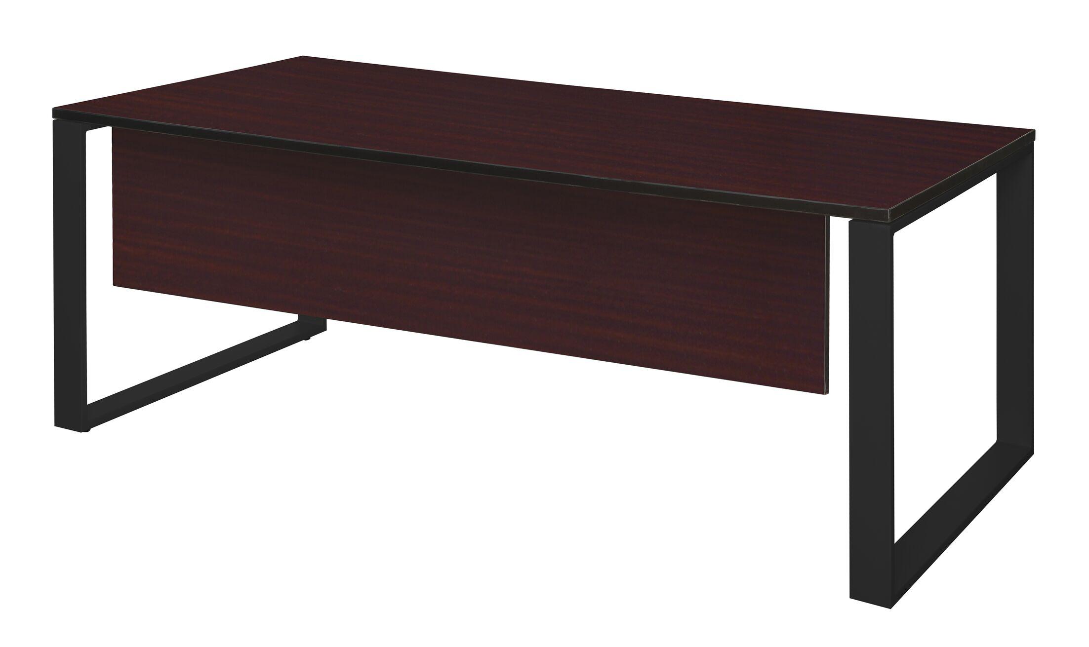 Mireya Training Table with Modesty Panel Tabletop Finish: Mahogany, Size: 30