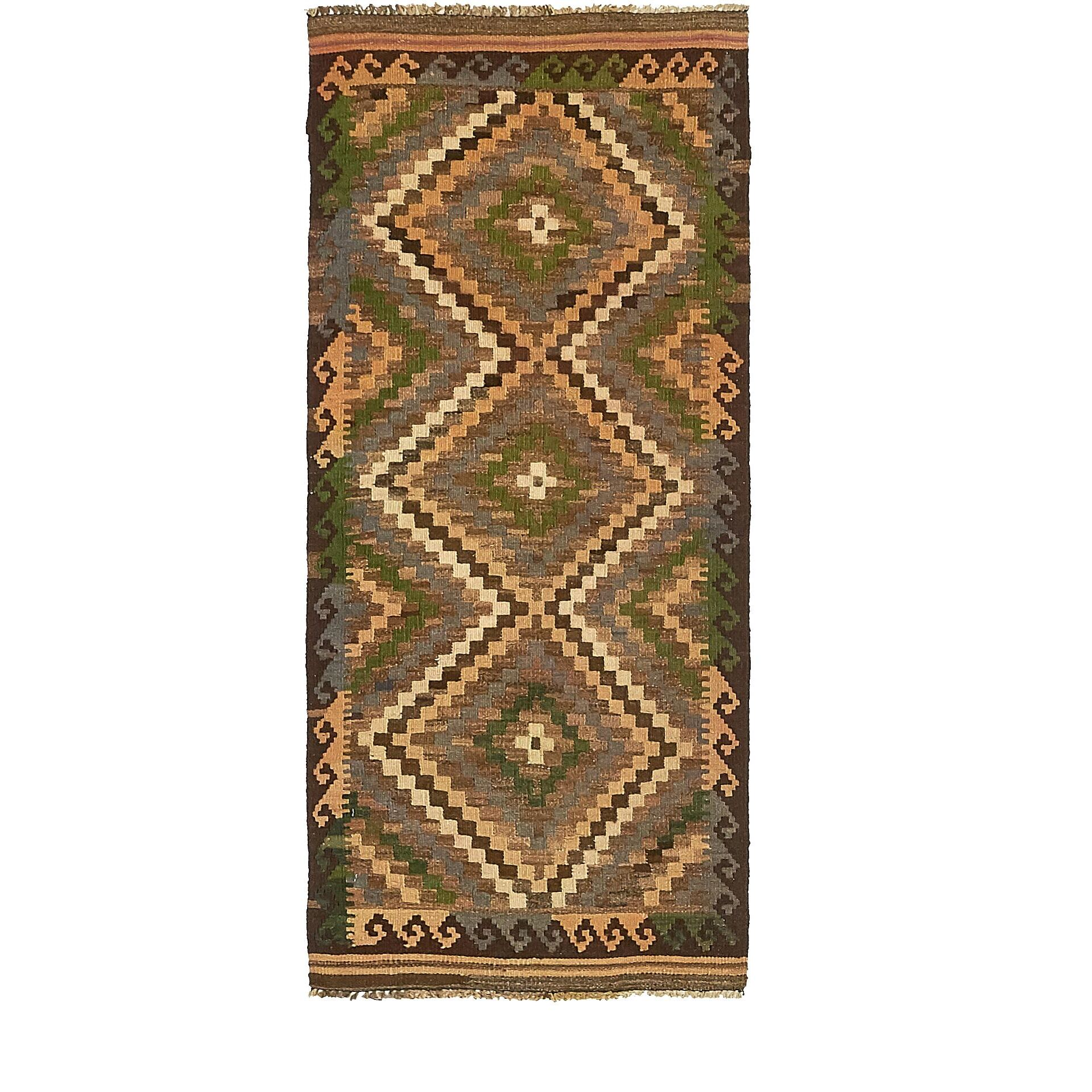 One-of-a-Kind Doorfield Hand-Knotted Wool  2' x 4'9