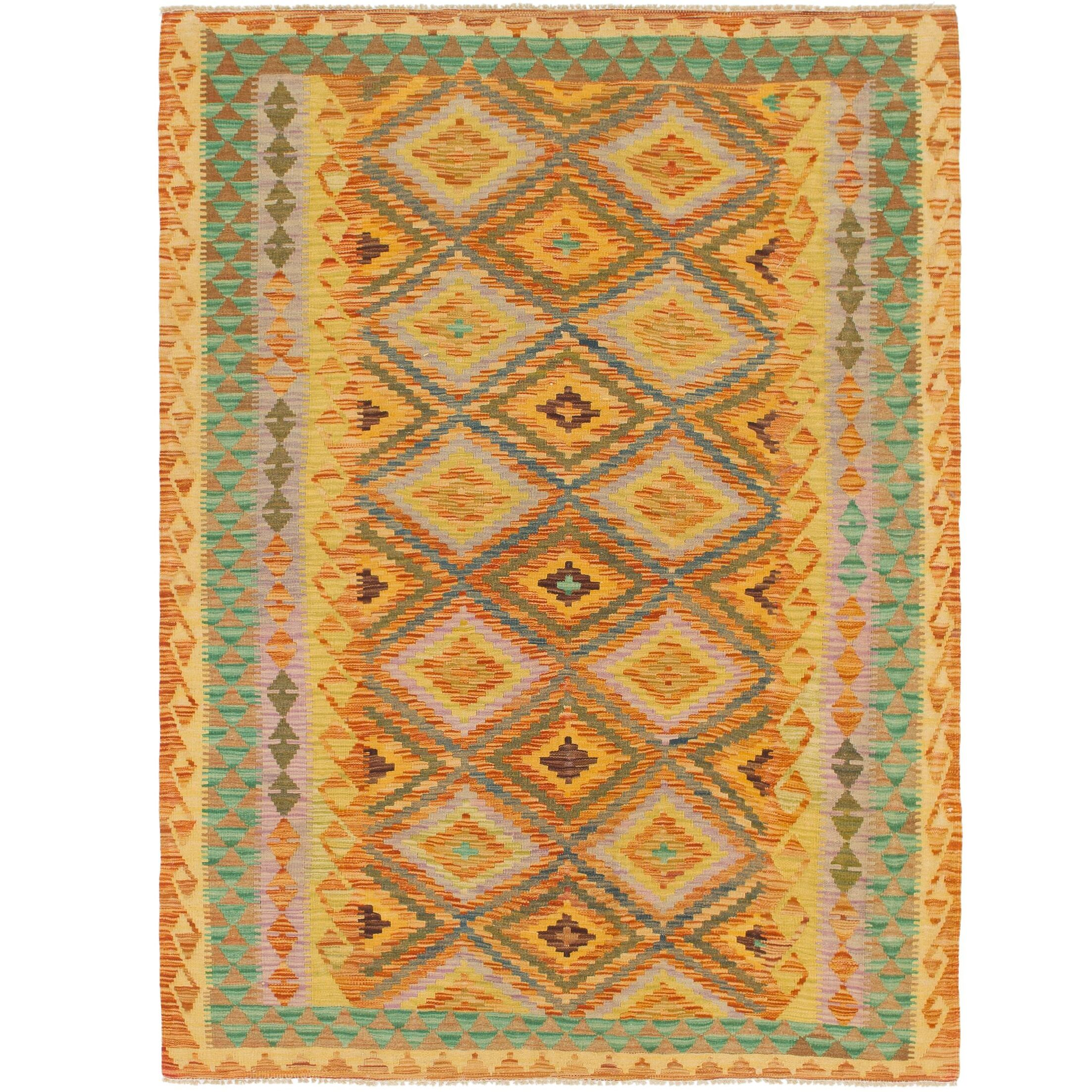 One-of-a-Kind Lorain Hand-Knotted Wool 5' x 6'9