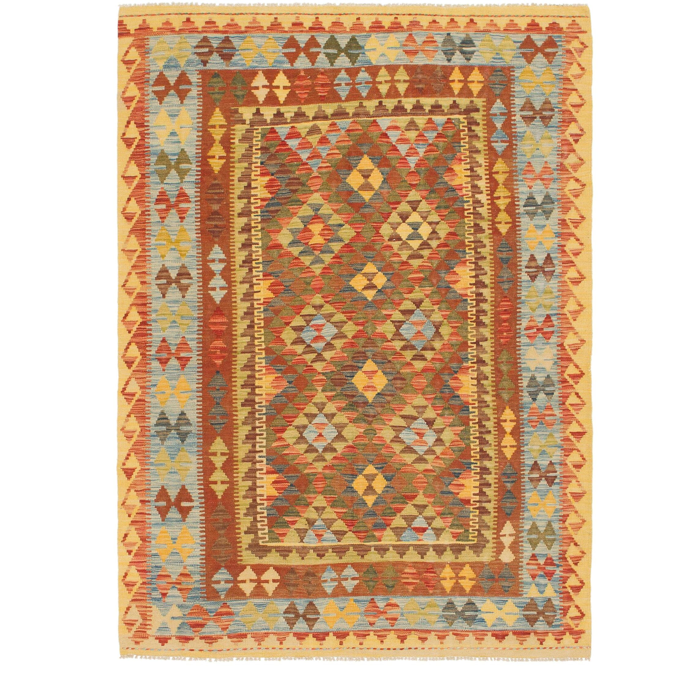 One-of-a-Kind Lorain Hand-Knotted Wool 4'10