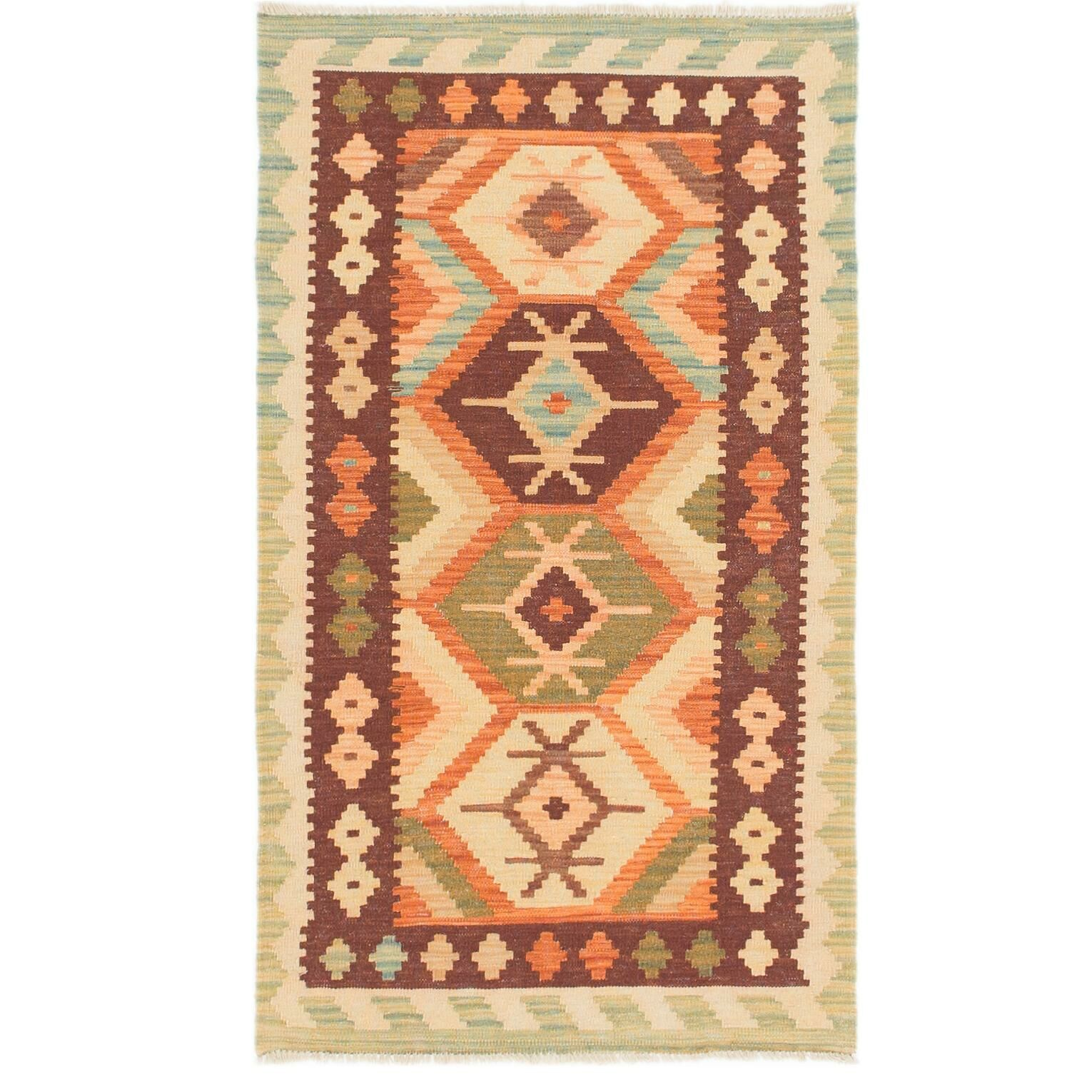 One-of-a-Kind Elland Hand-Knotted Wool Burgundy Area Rug