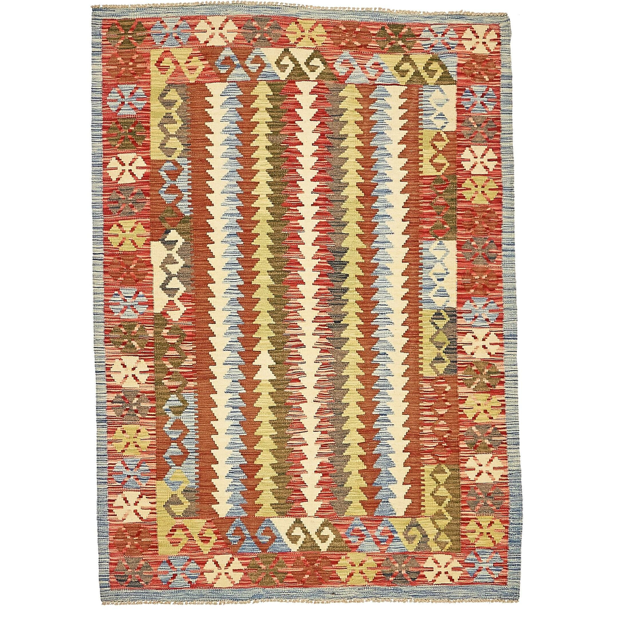 One-of-a-Kind Doorfield Hand-Knotted Wool 4'2