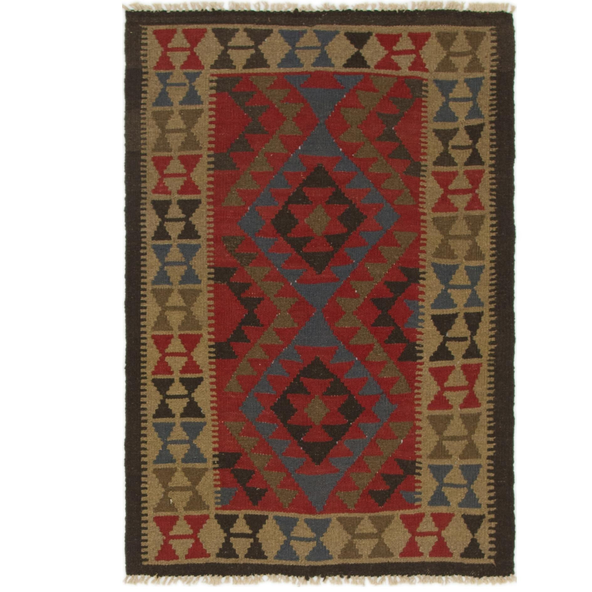 One-of-a-Kind Lorain Hand-Knotted Wool 3'2