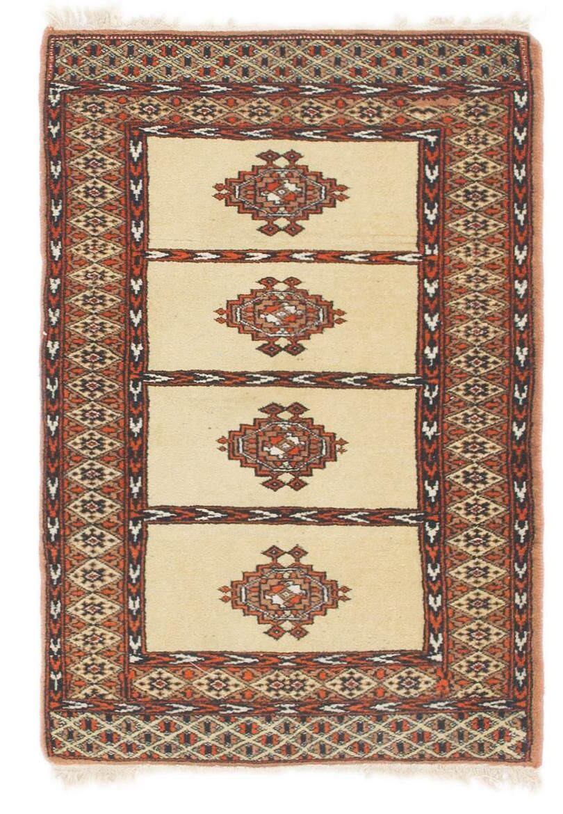 One-of-a-Kind Tekke Hand-Knotted Wool Beige/Brown Area Rug