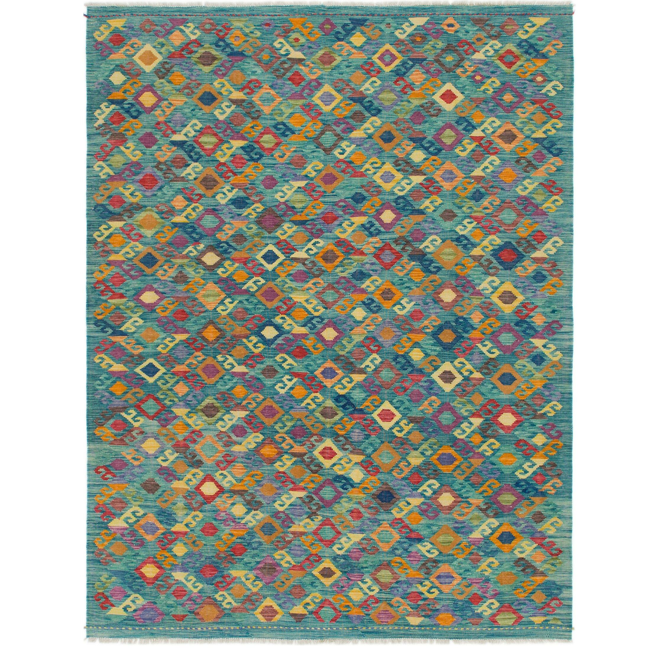 One-of-a-Kind Lorain Hand-Knotted Wool 6' x 8' Blue Area Rug