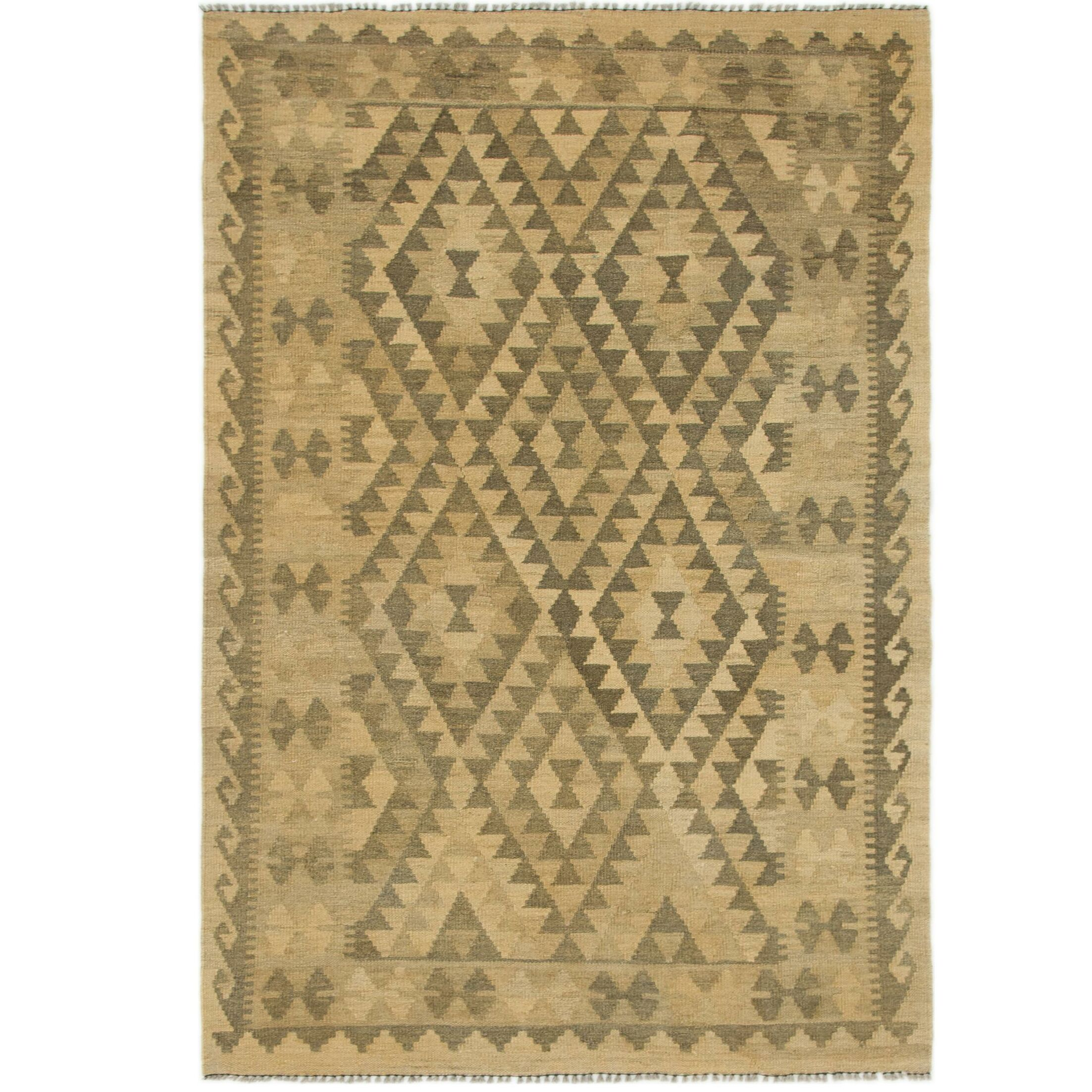 One-of-a-Kind Lorain Hand-Knotted Wool 4' x 6' Beige/Brown Area Rug