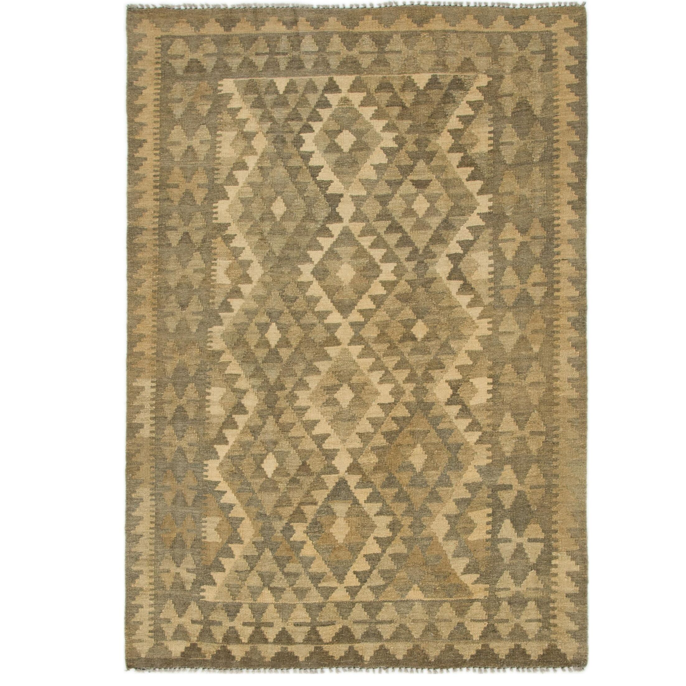 One-of-a-Kind Lorain Hand-Knotted Wool 4'1