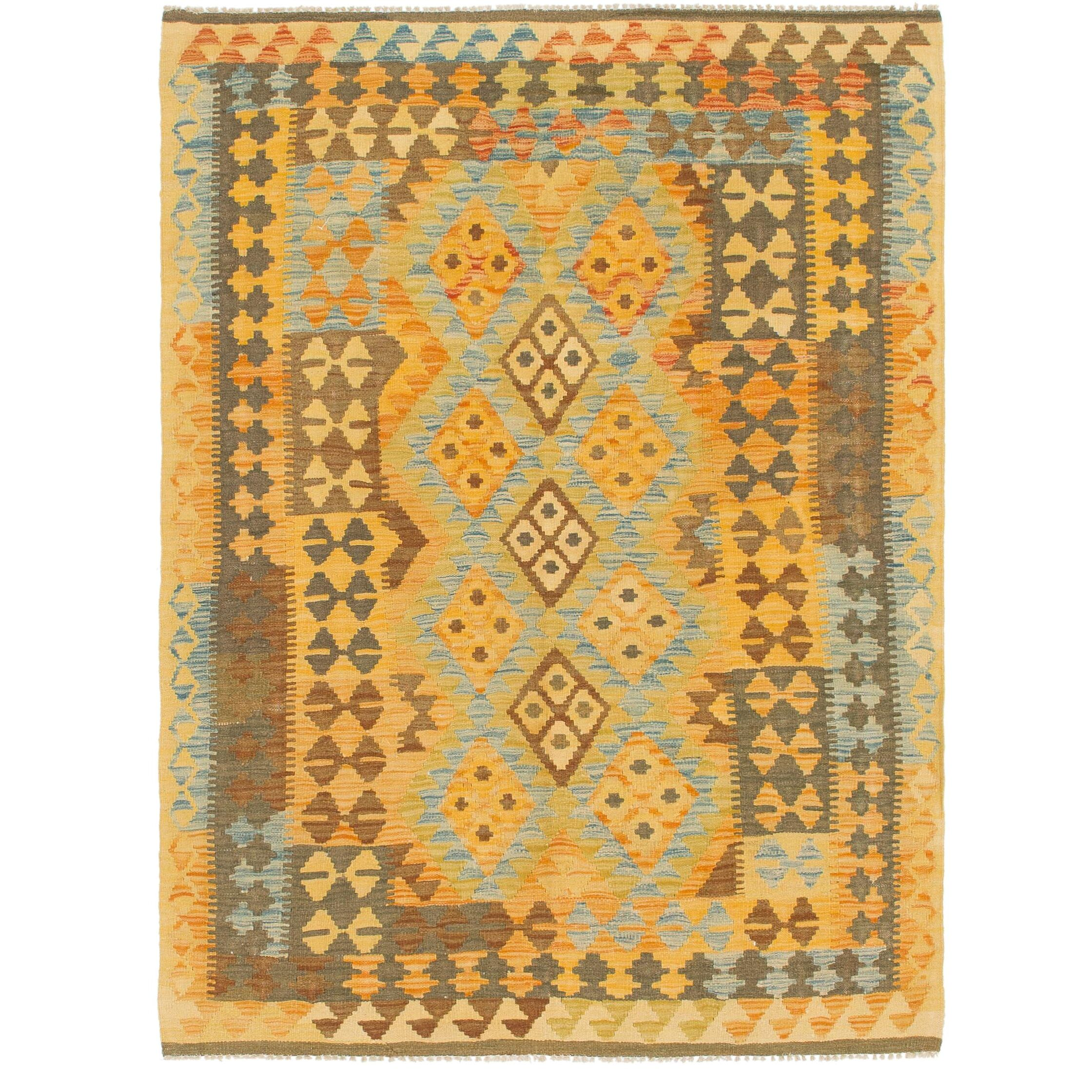 One-of-a-Kind Lorain Hand-Knotted Wool 4'8