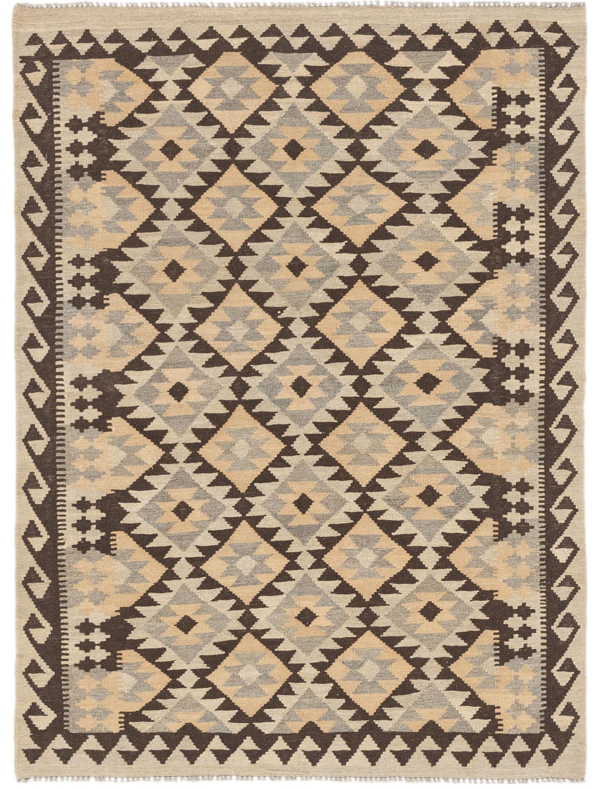 One-of-a-Kind Elland Hand-Knotted Wool Beige/Gray Area Rug