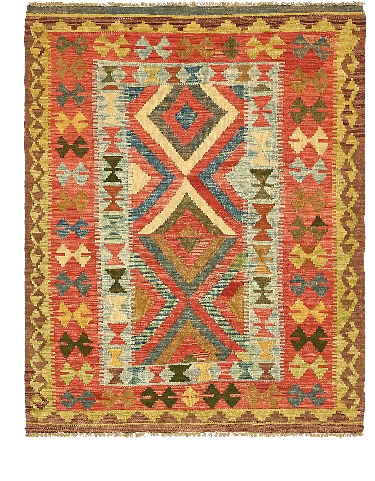 One-of-a-Kind Doorfield Hand-Knotted Wool 3'9