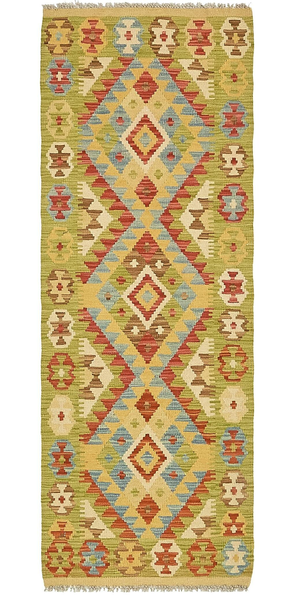 One-of-a-Kind Doorfield Hand-Knotted Wool  2' x 5'7