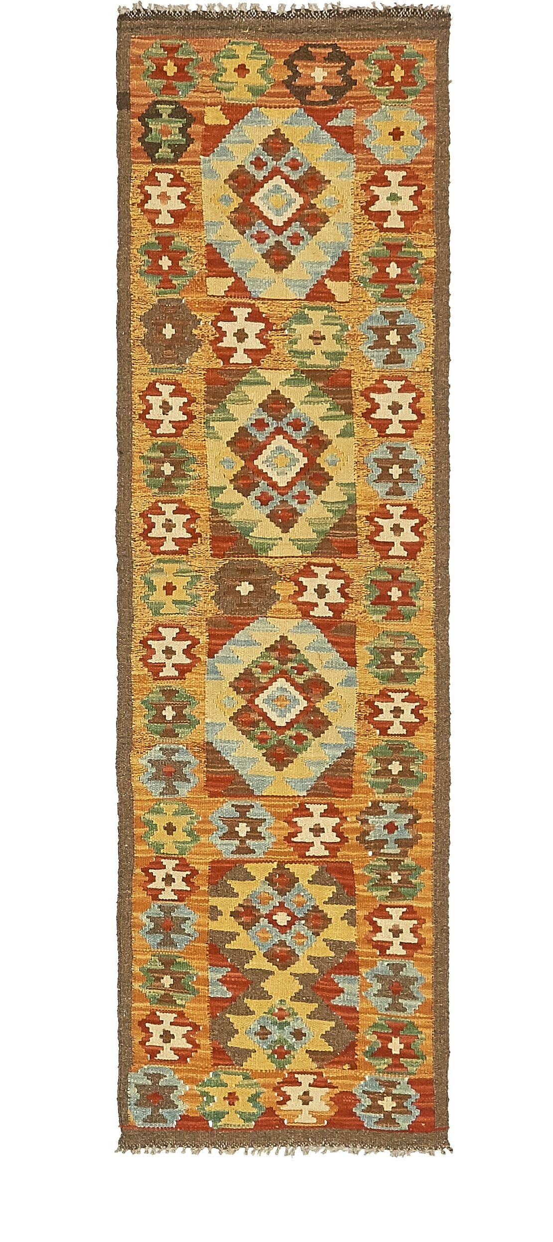 One-of-a-Kind Doorfield Hand-Knotted Wool  1'9