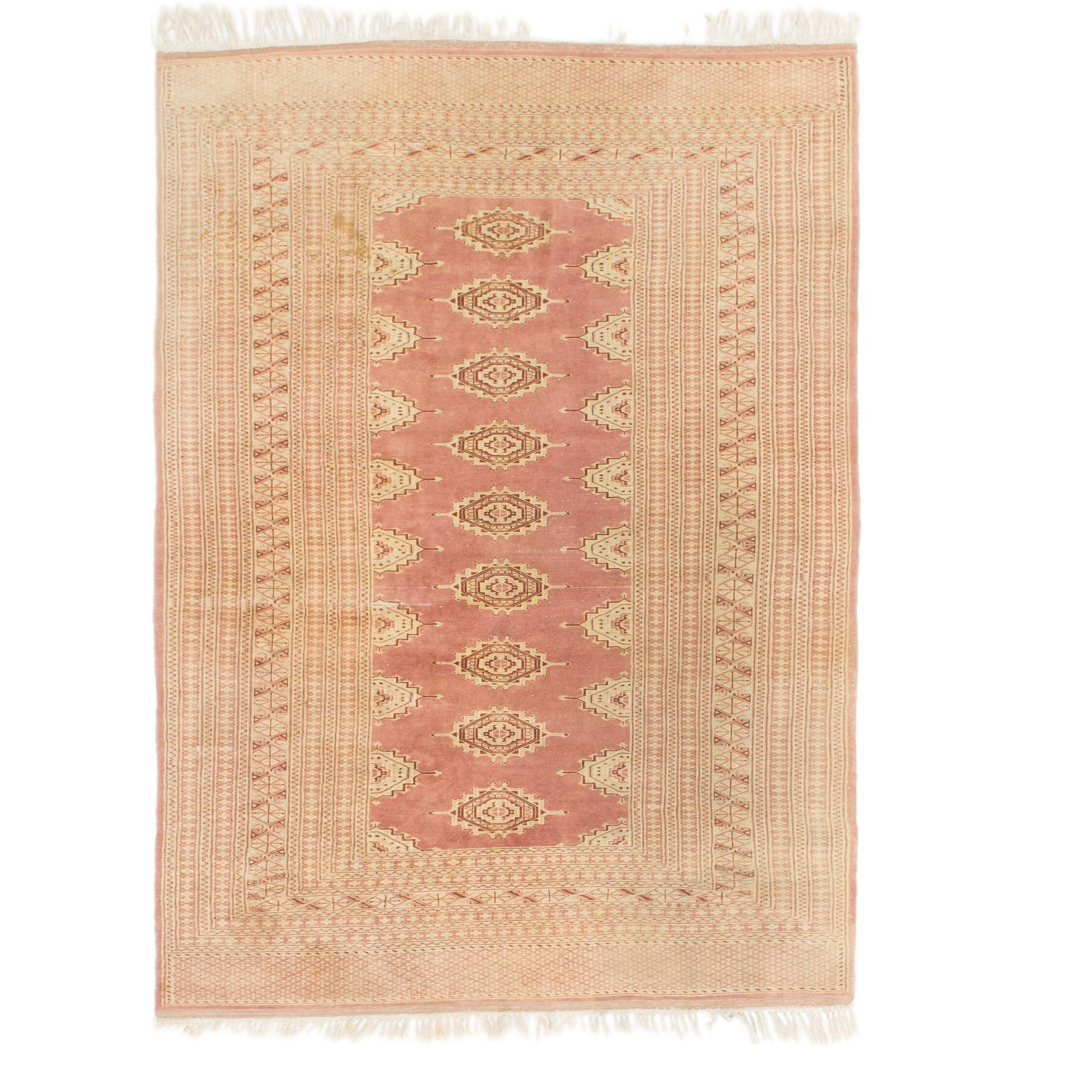 One-of-a-Kind Tekke Hand-Knotted Wool Beige Area Rug