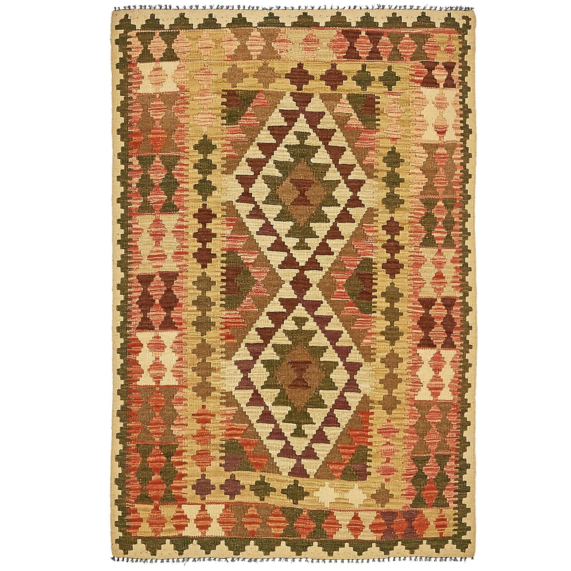 One-of-a-Kind Doorfield Hand-Knotted Wool 3'2