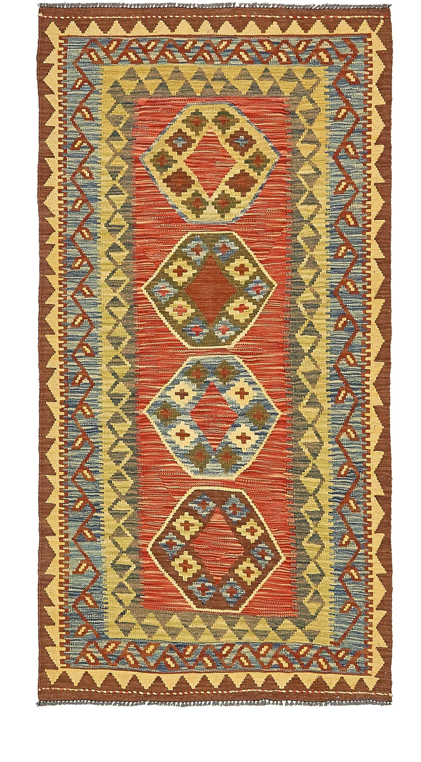 One-of-a-Kind Doorfield Hand-Knotted Wool 3'3