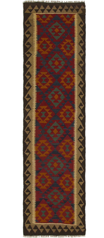 One-of-a-Kind Merseyside Kilim Maymana Hand-Knotted Wool 2'9