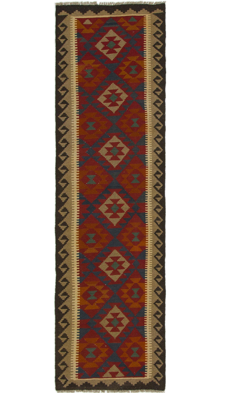 One-of-a-Kind Parlington Kilim Maymana Hand-Knotted Wool 2'7
