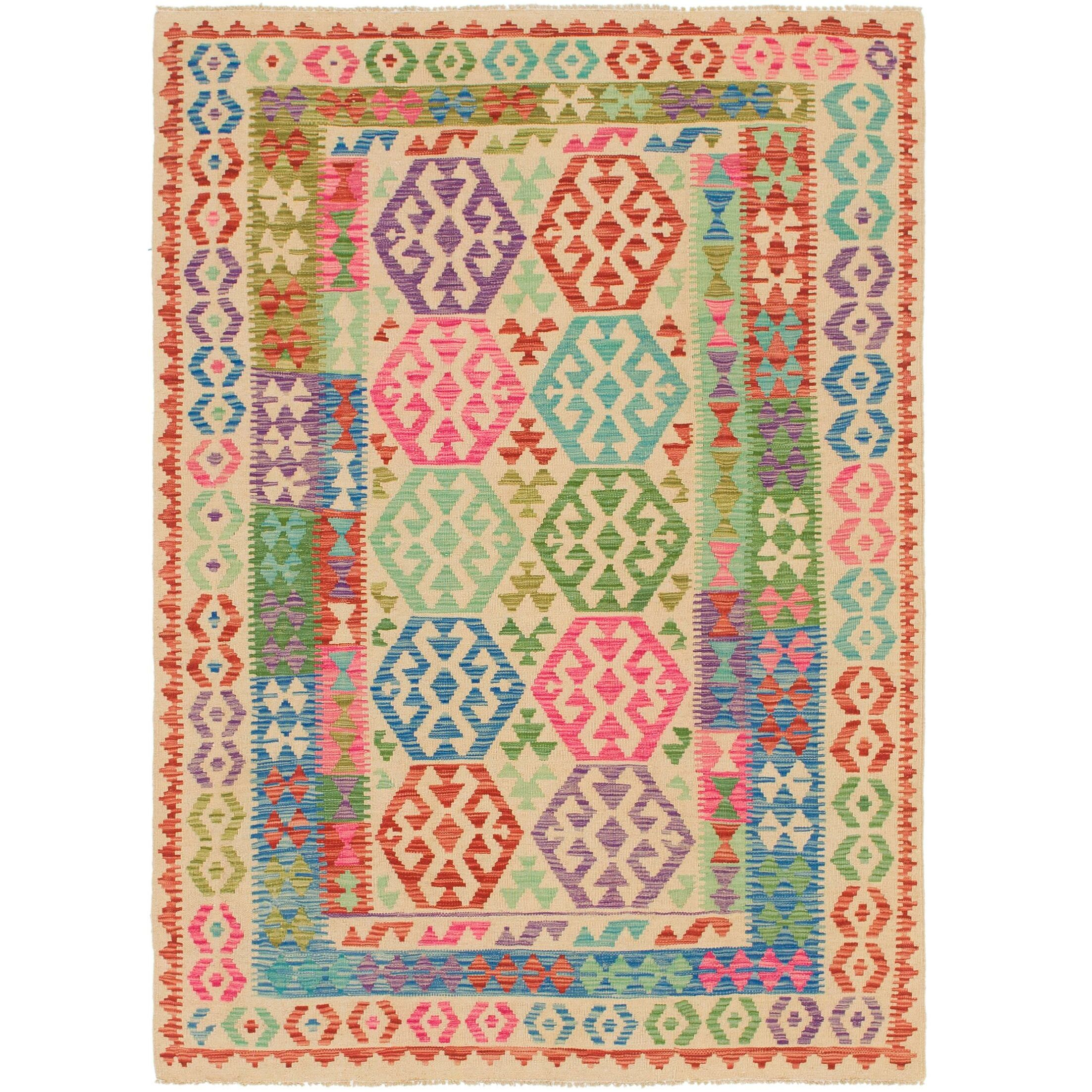 One-of-a-Kind Doorfield Hand-Knotted Wool 4'9