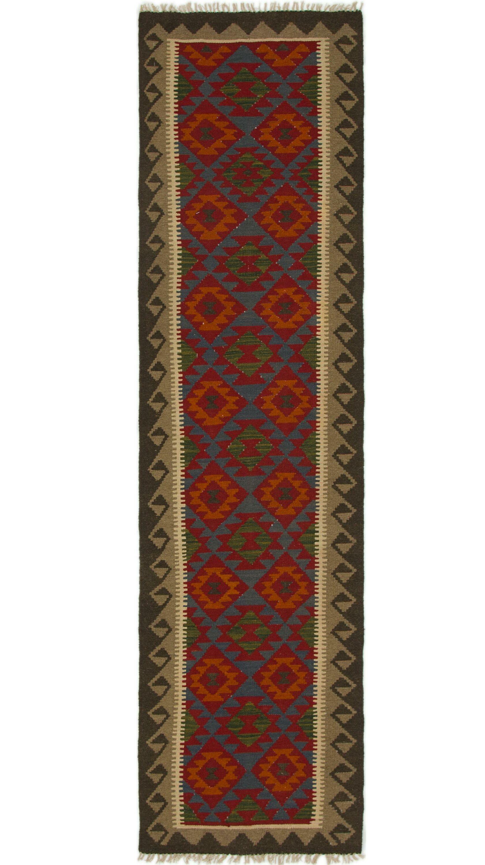 One-of-a-Kind Naswith Kilim Maymana Hand-Knotted Wool 2'6