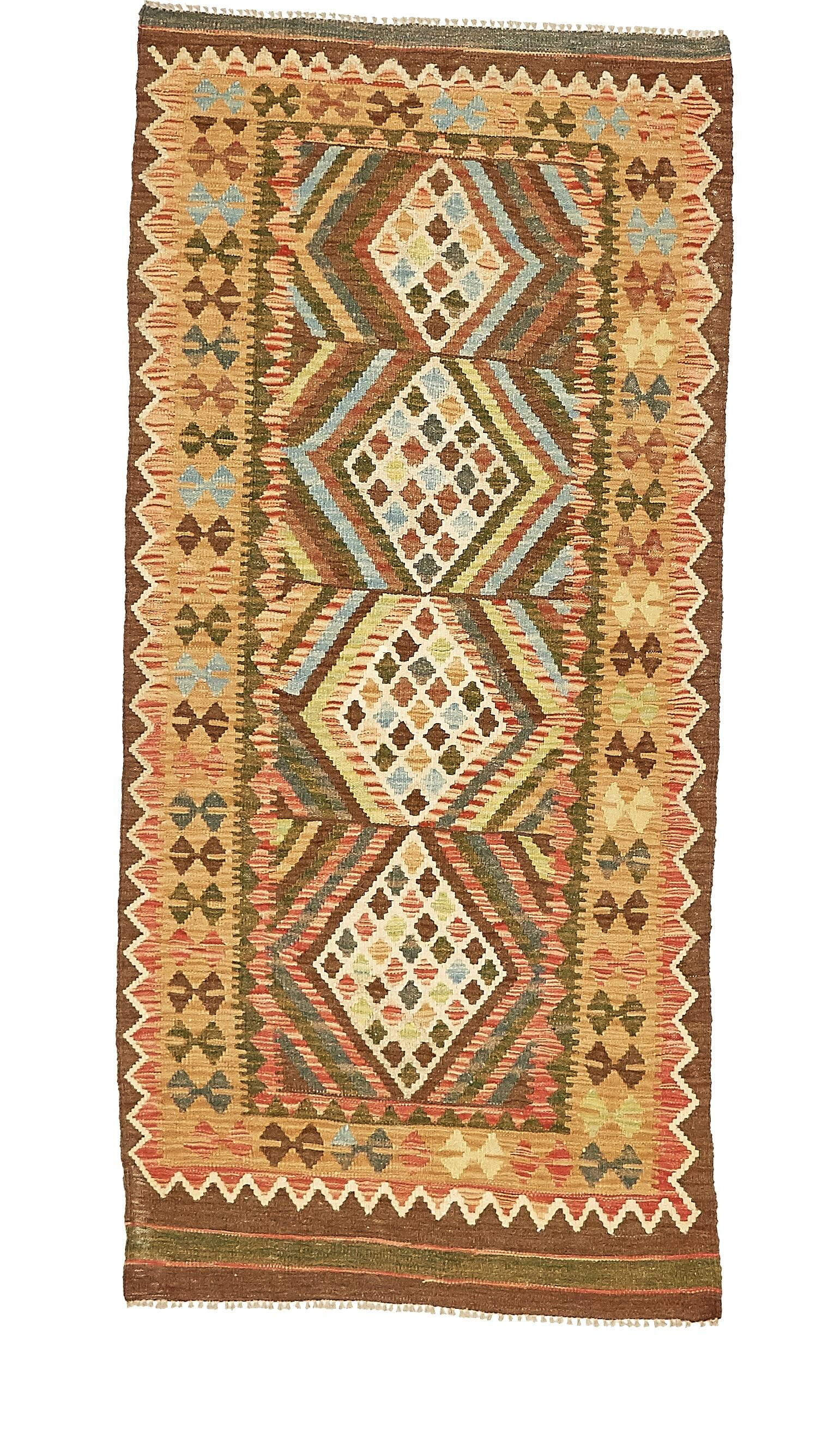 One-of-a-Kind Doorfield Hand-Knotted Wool  3' x 6'7