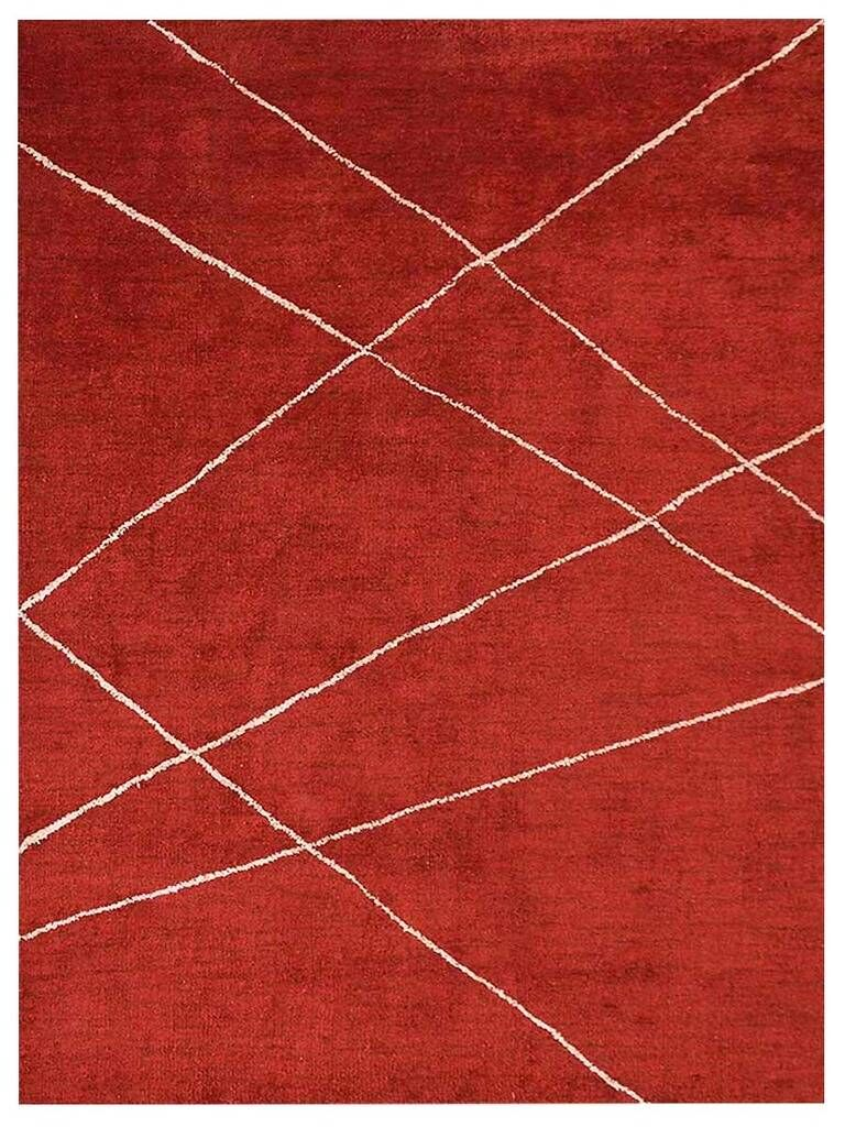Iwan Gabbeh Hand-Knotted Silk Red Area Rug Rug Size: Rectangle 9' x 12'