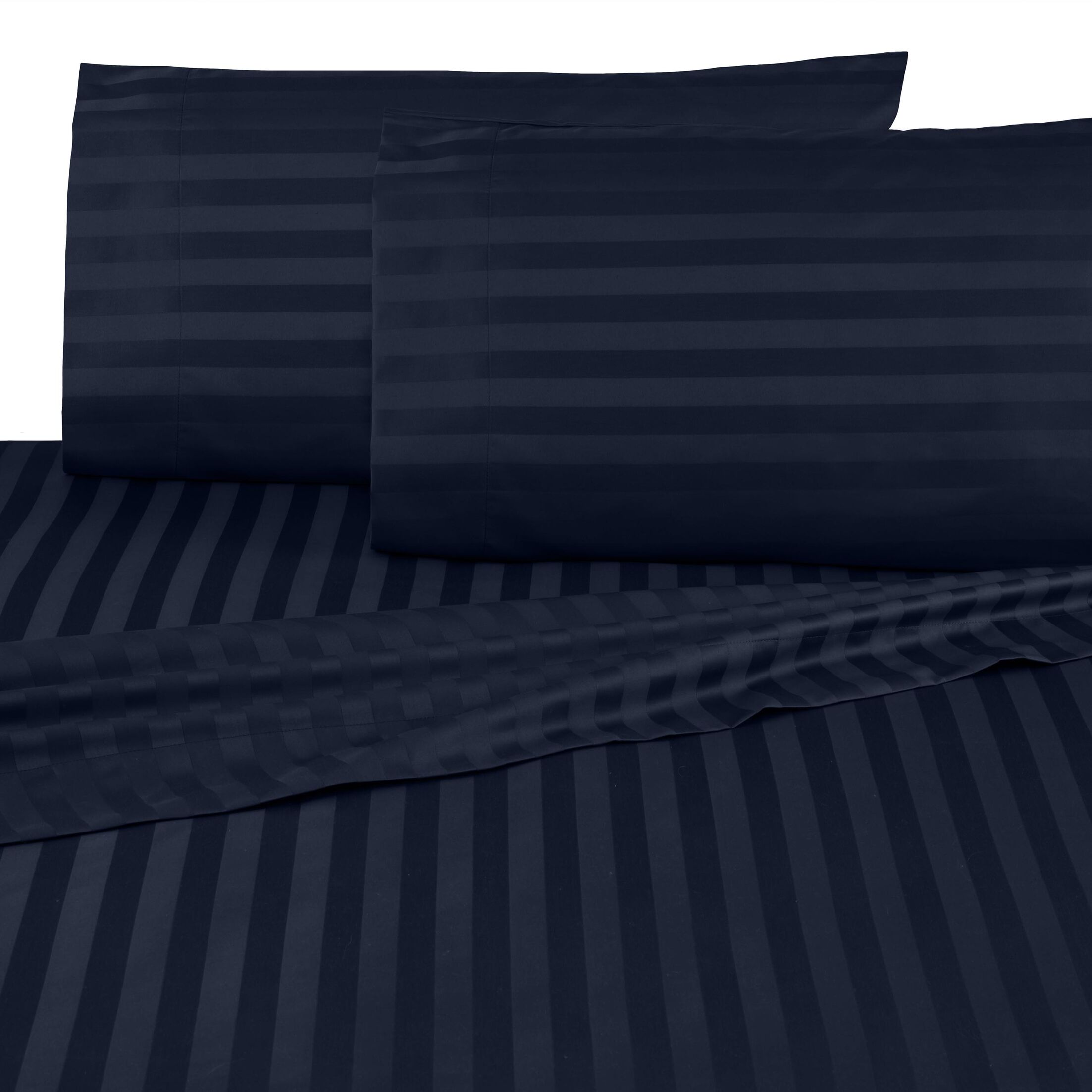 Egyptian Certified 500 Thread Count 100% Cotton Sheet Set Size: Full, Color: Navy