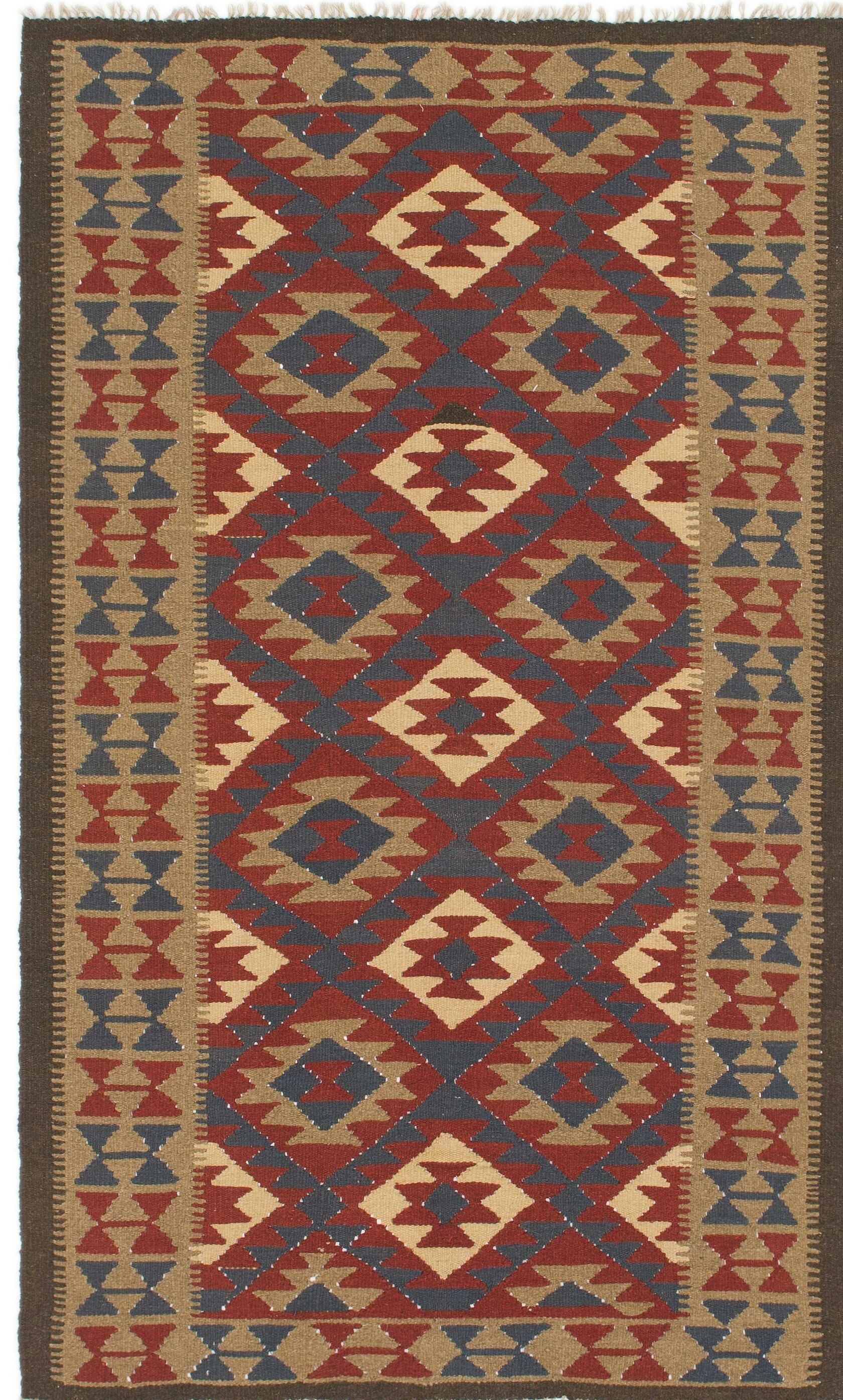 One-of-a-Kind Lorain Hand-Knotted Wool 4'9